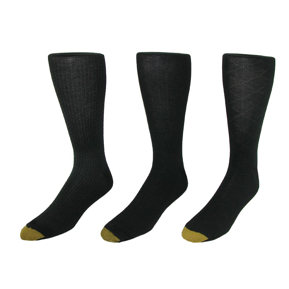 Gold Toe Mens Moisture Control Fashion Socks (pack Of 3)