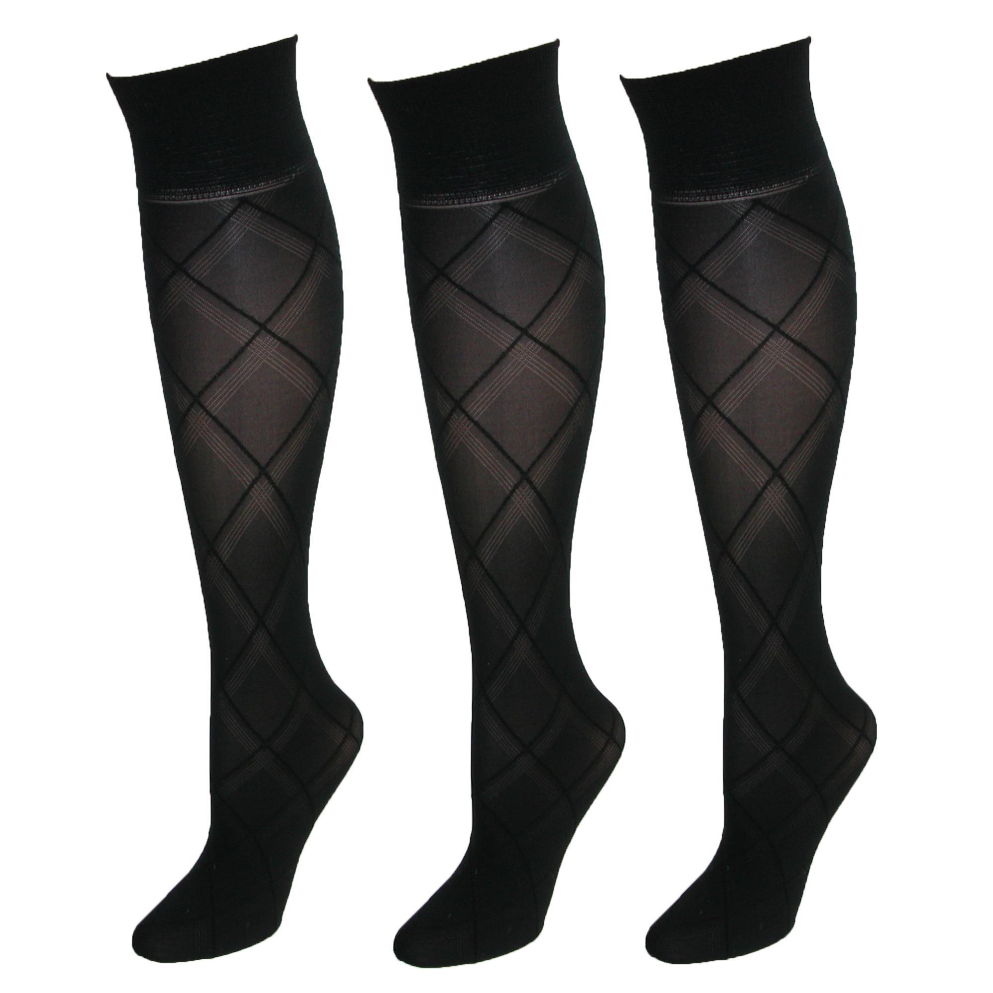 Gold Toe Patterned Knee High Trouser Socks