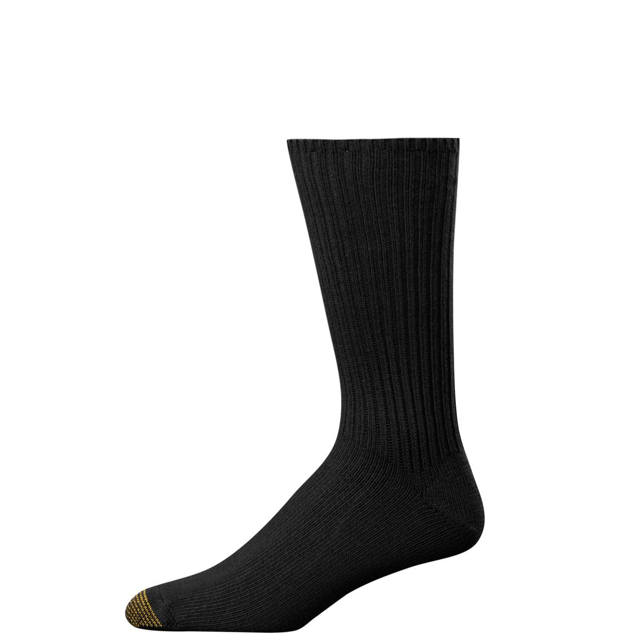Gold Toe Mens Fluffies Cotton Crew Socks