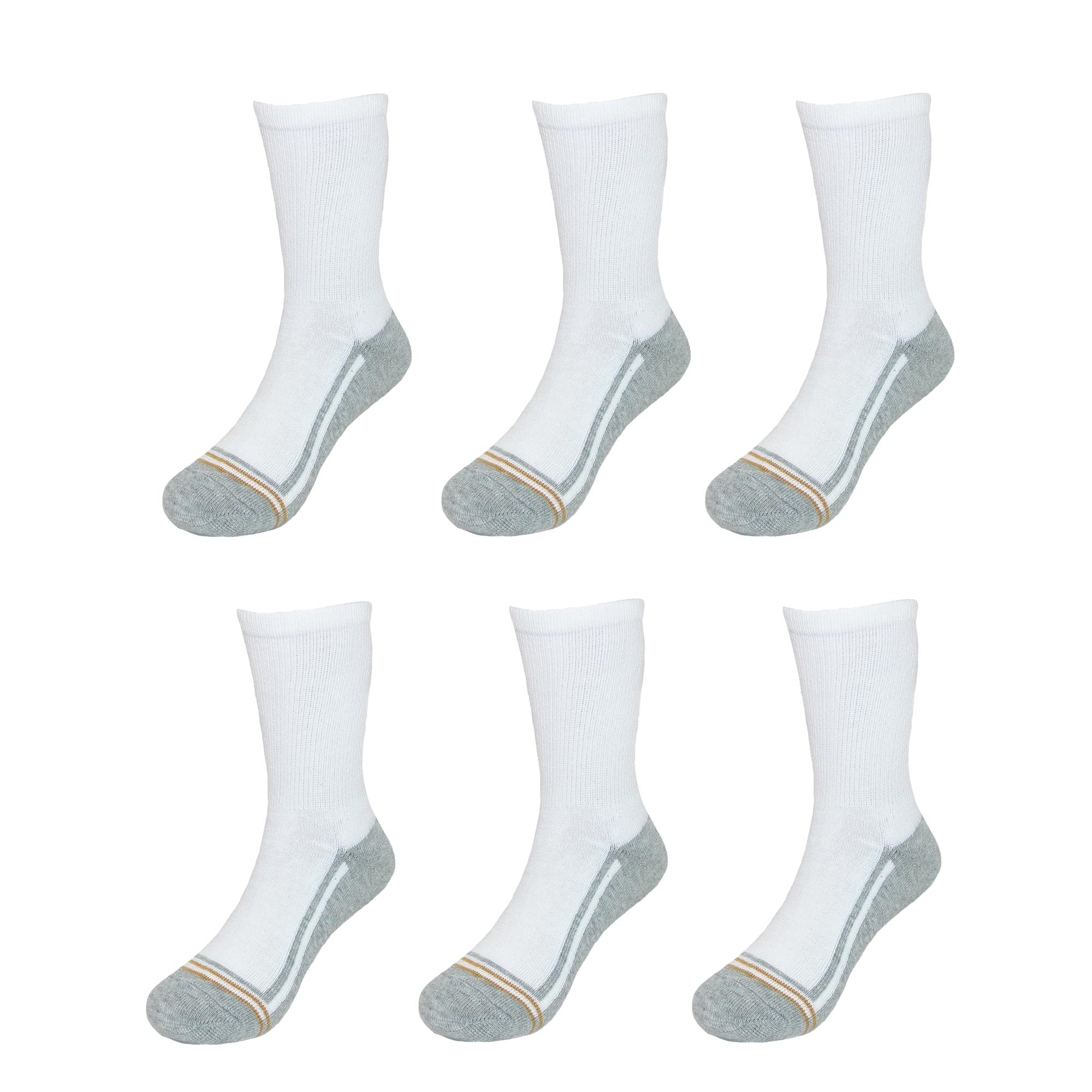 Pack of 6 New Gold Toe Boys/' Athletic Crew Socks