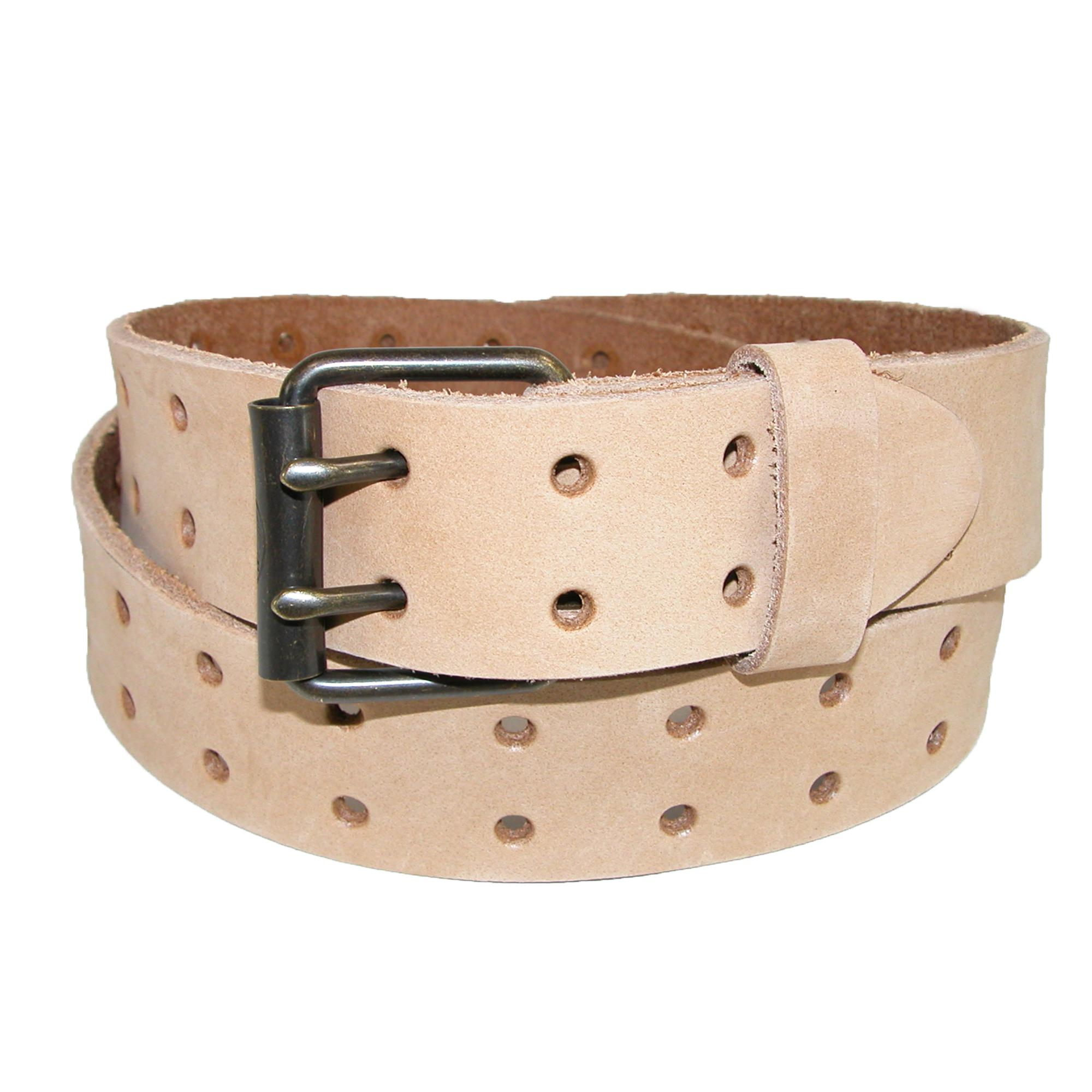 Dickies Mens Leather Two Hole Raw Edge Bridle Belt