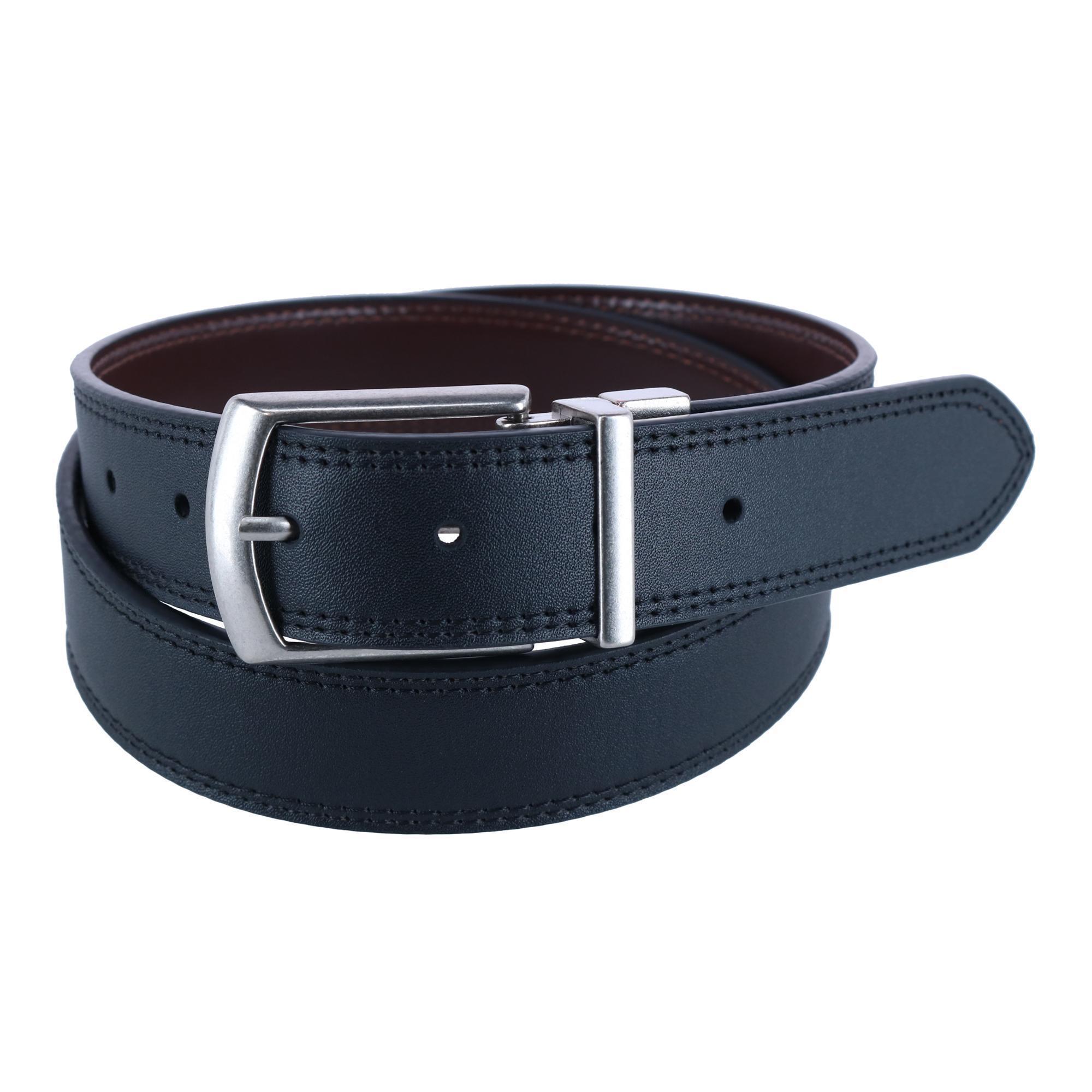 Dickies Mens Leather Reversible Jean Belt