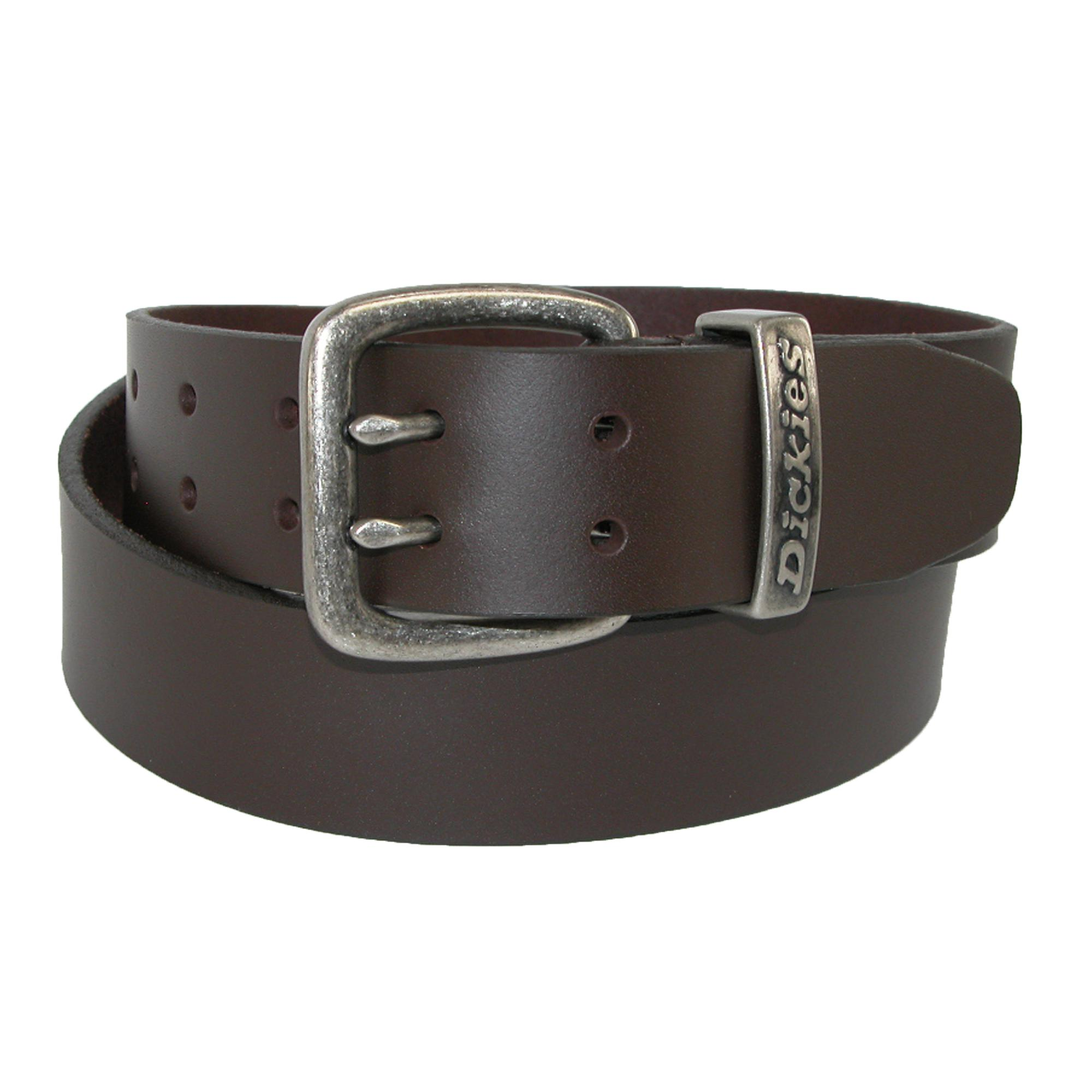 New Dickies Men S Leather Two Prong Casual 1 1 2 Inch Belt