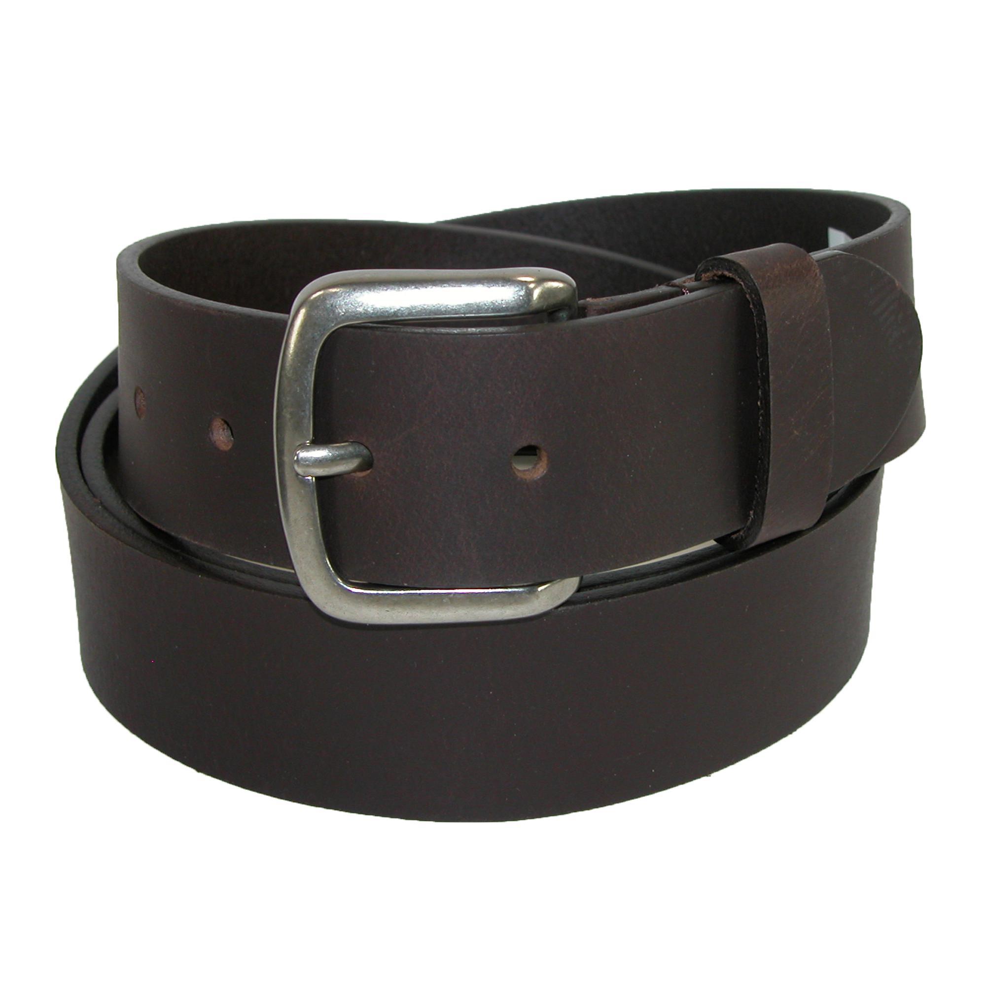 Dickies Mens Leather 40mm Cut Edge Bridle Belt
