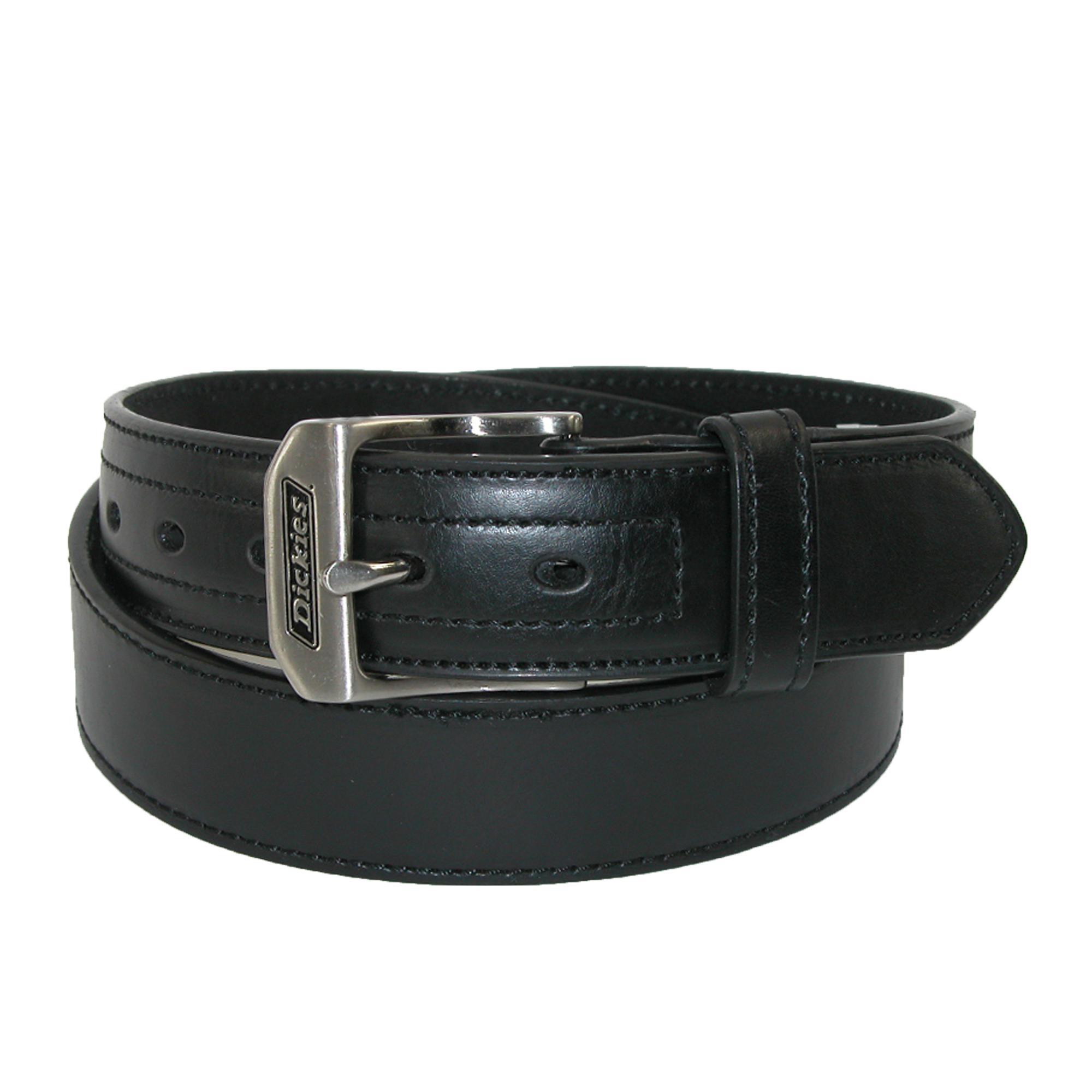 Dickies Mens Leather Logo Buckle Industrial Strength Work Belt