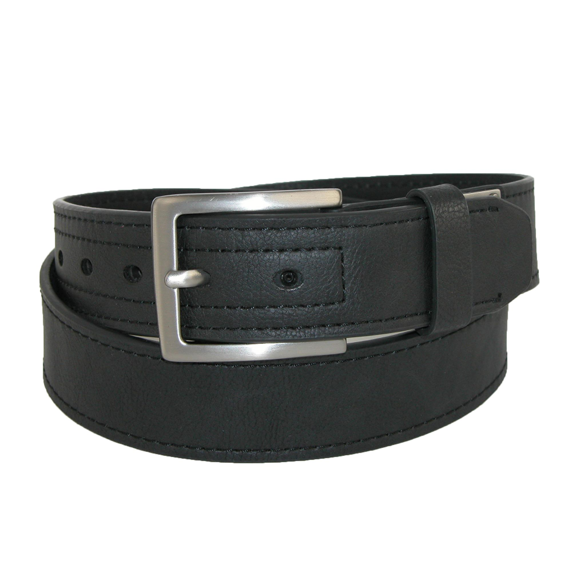 Dickies Mens Reinforced Leather Industrial Strength 1 1/2 Inch Belt