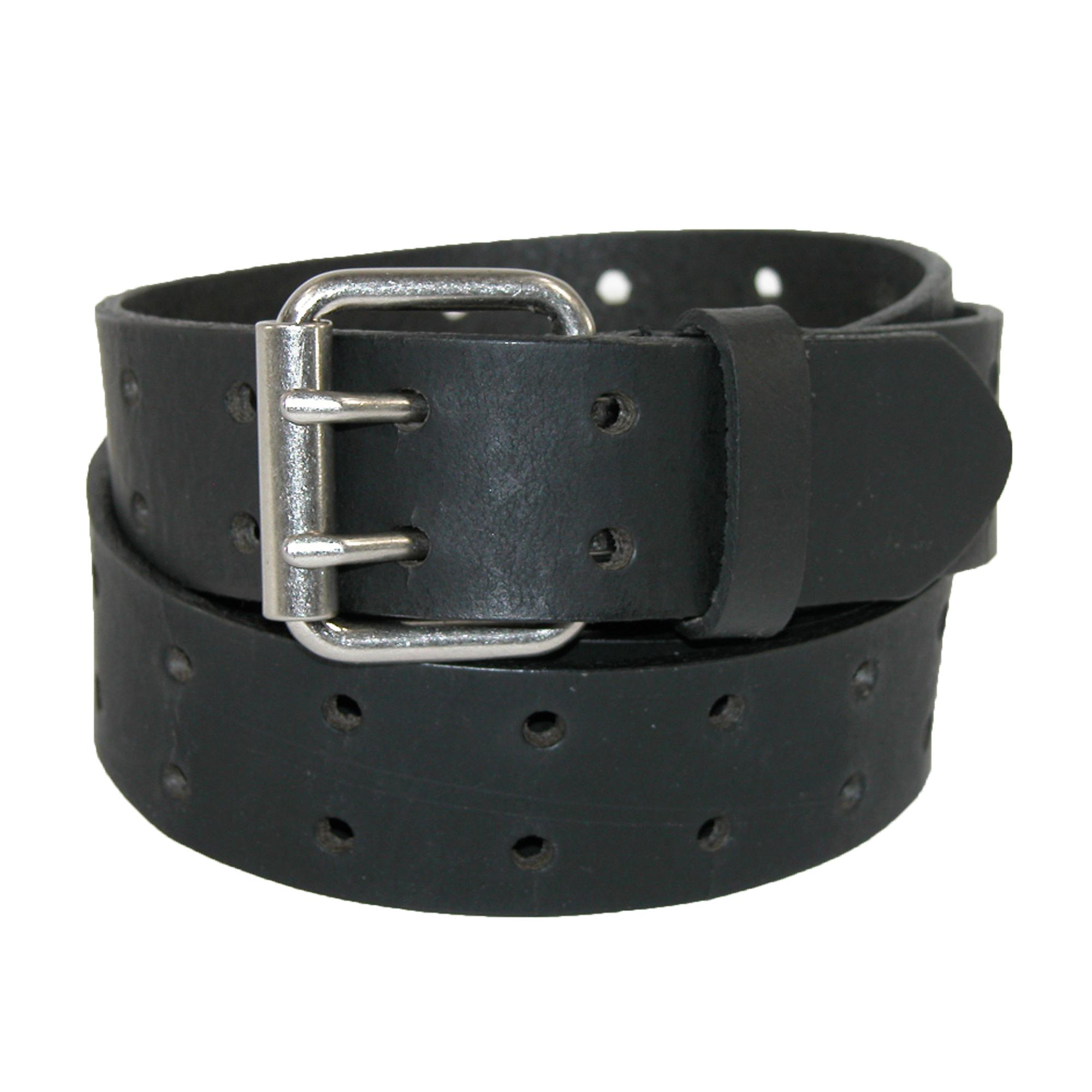 Dickies Mens Big & Tall Leather Two Hole Bridle Belt