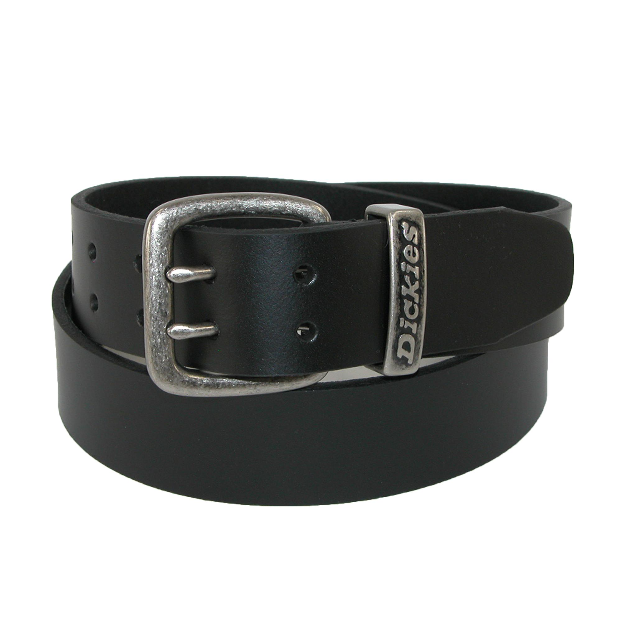 Dickies Mens Big & Tall Leather Double Prong 1 1/2 Inch Belt