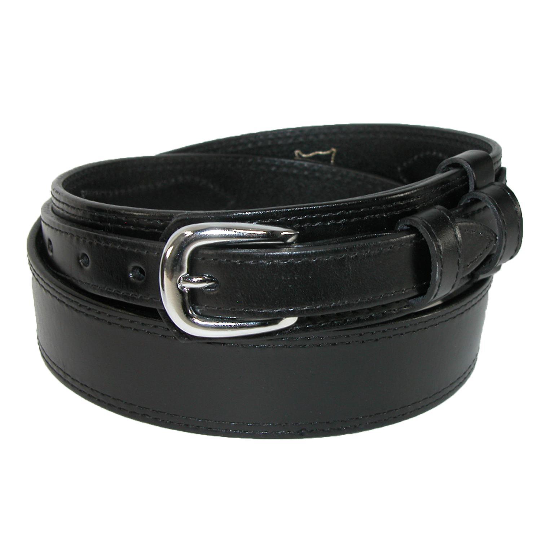 Ctm Men's Big & Tall Leather Removable Buckle Ranger Belt