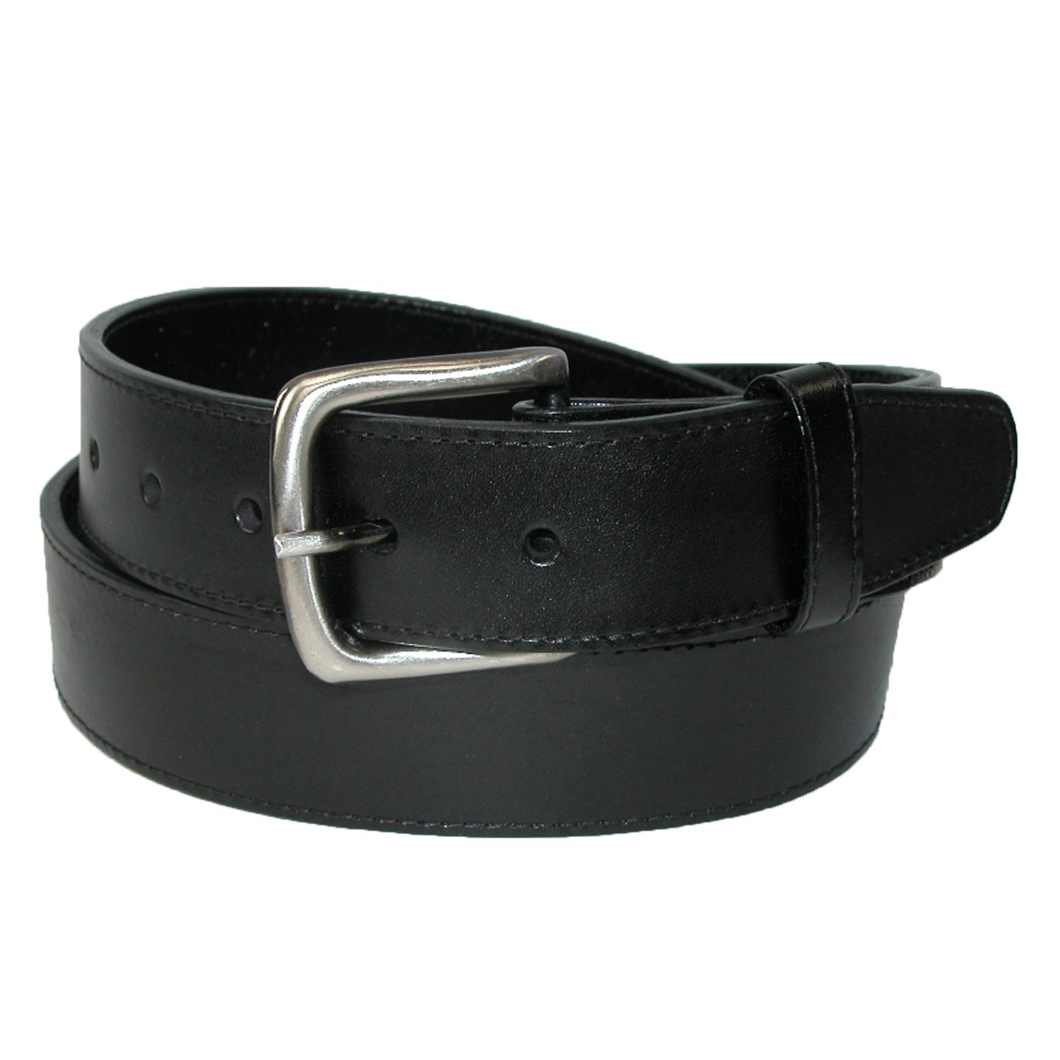 Ctm Mens Leather Money Belt Removable Buckle