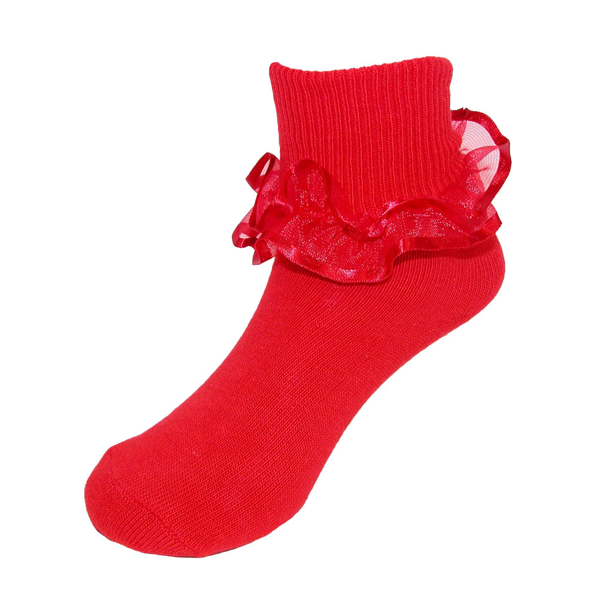 Girl's Frilly Lace Ruffle Tutu Anklet Socks | eBay Ruffled Socks