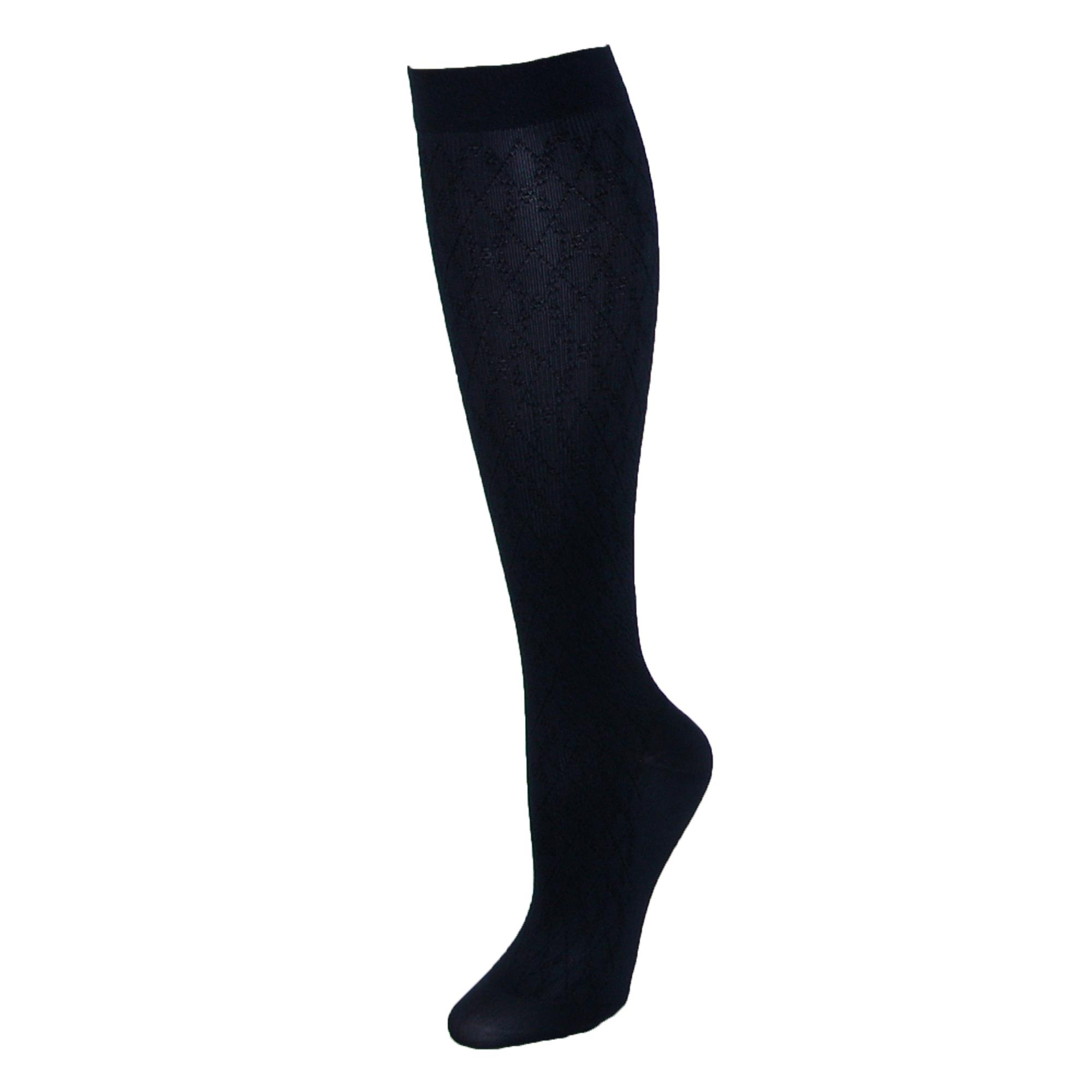 Jefferies Socks Womens Compression Dress Sock With Diamond Pattern