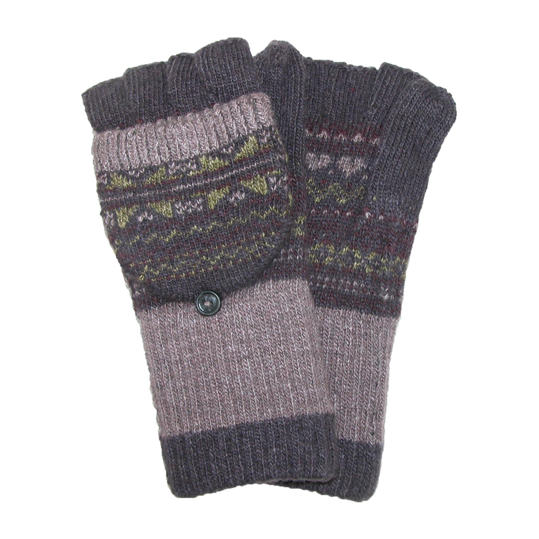 Jeanne Simmons Womens Knit Flip Top Fingerless Gloves Mittens
