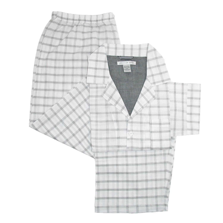 Geoffrey Beene Mens Long Sleeve Long Pant Pajama Set