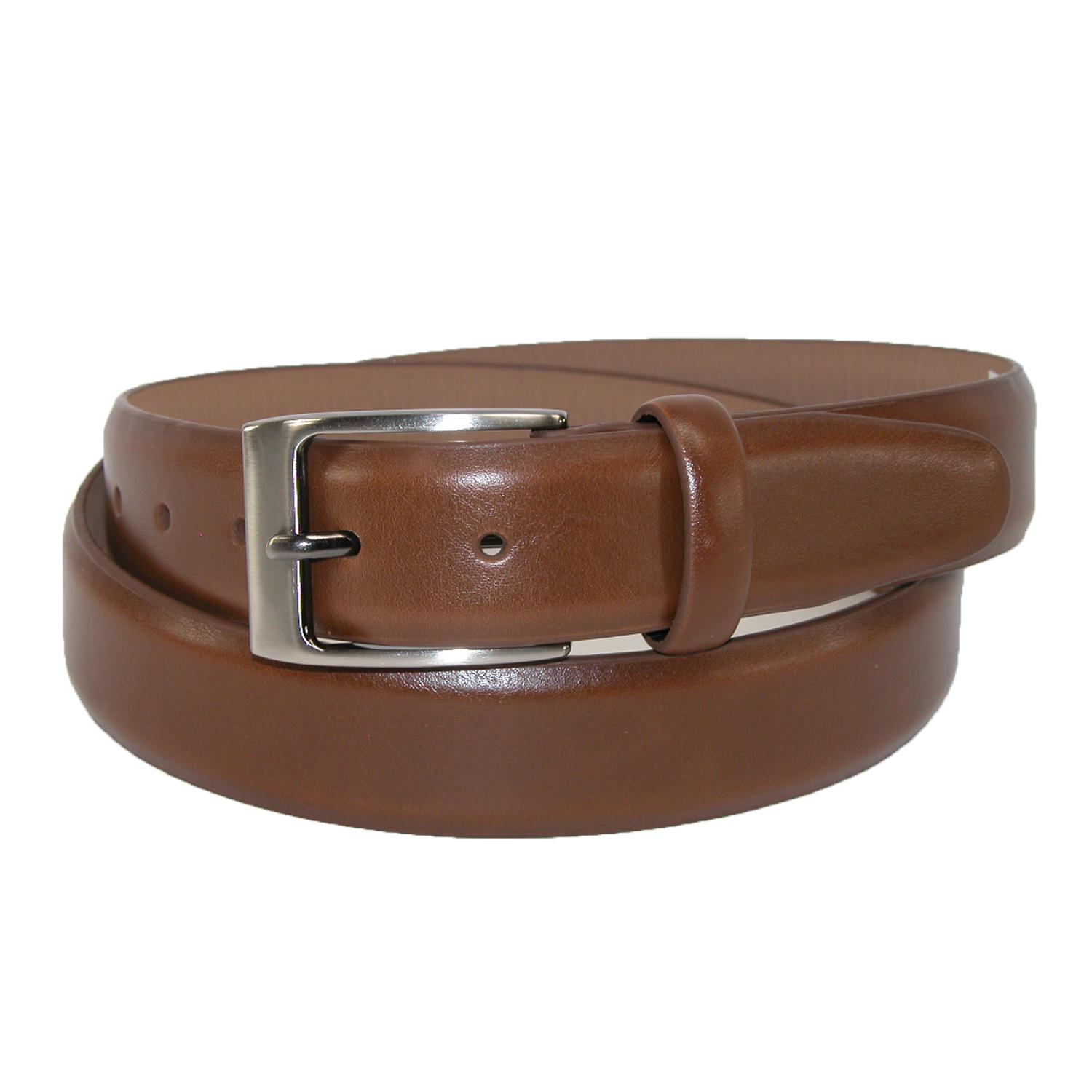 Dockers Mens Leather Feather Edge 1 1/4 Inch Dress Belt
