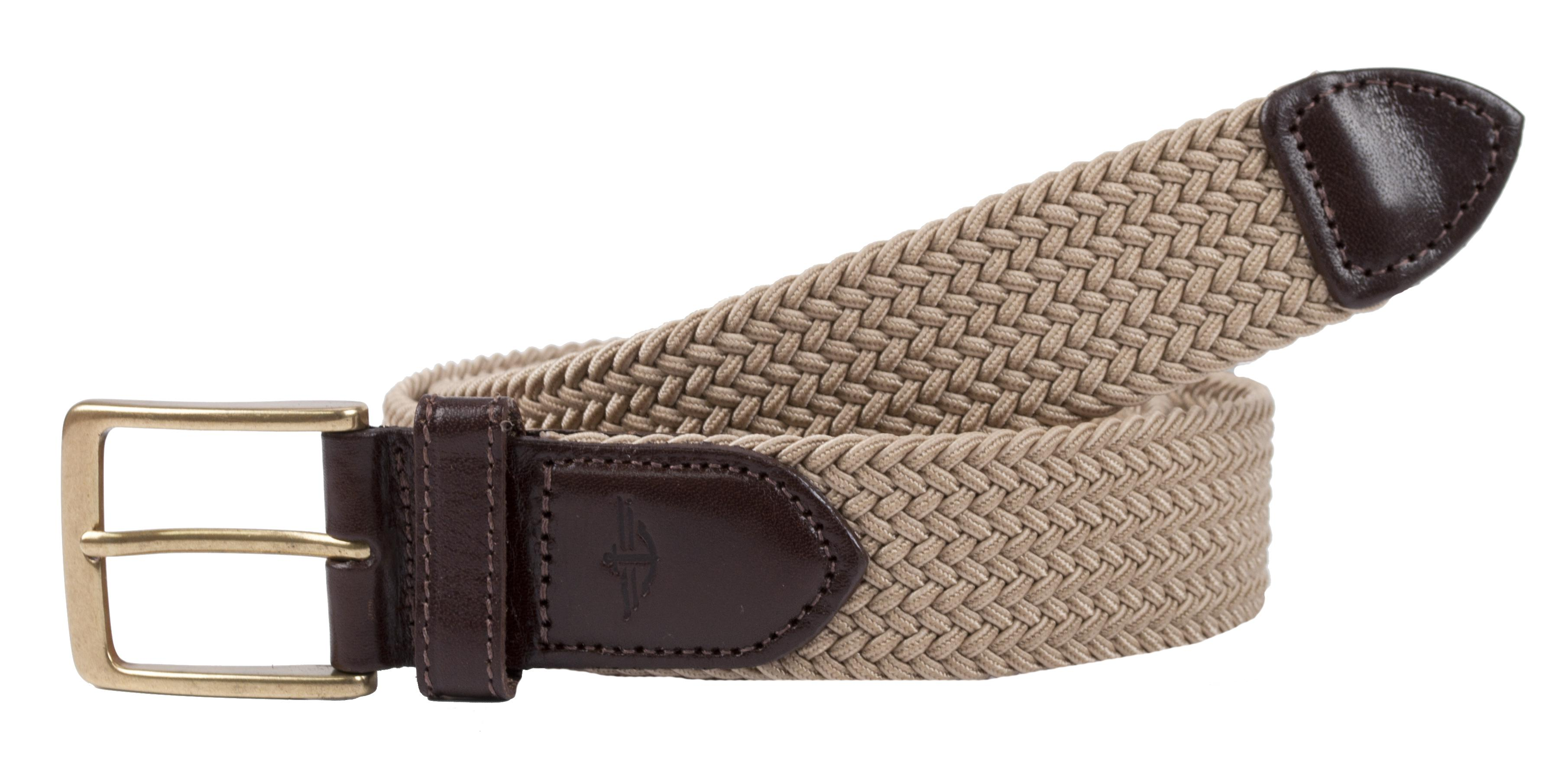 Dockers Mens Elastic Braided Stretch Belt With Leather Tabs