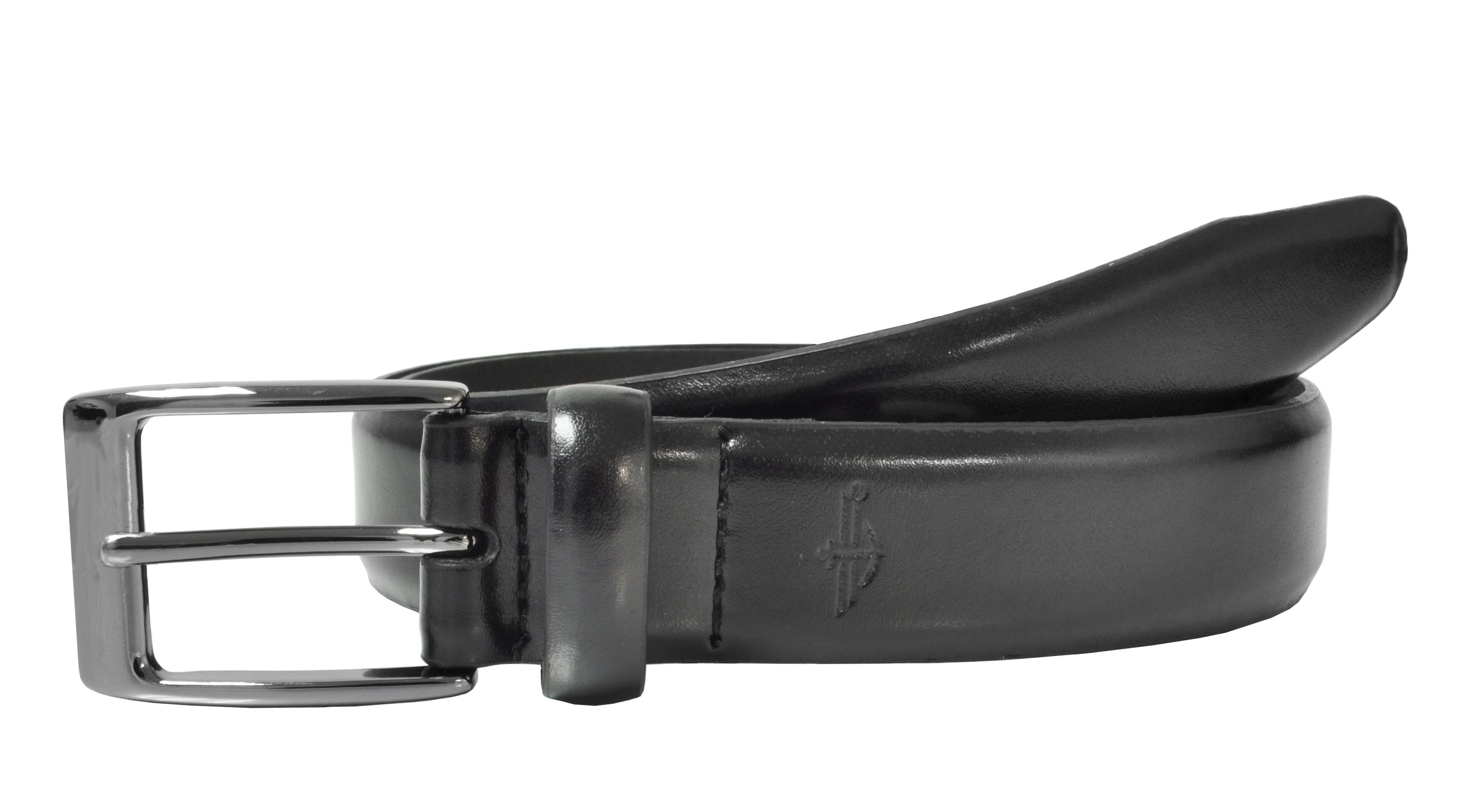 Dockers Mens Big & Tall 1 1/4 Inch Leather Feather Edge Dress Belt
