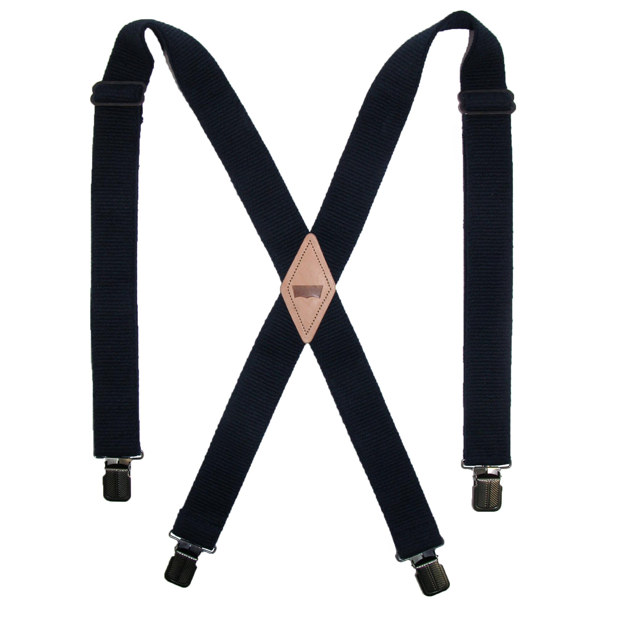 Levis Men's Terry Elastic 1 1/2 Inch Clip-End Suspenders
