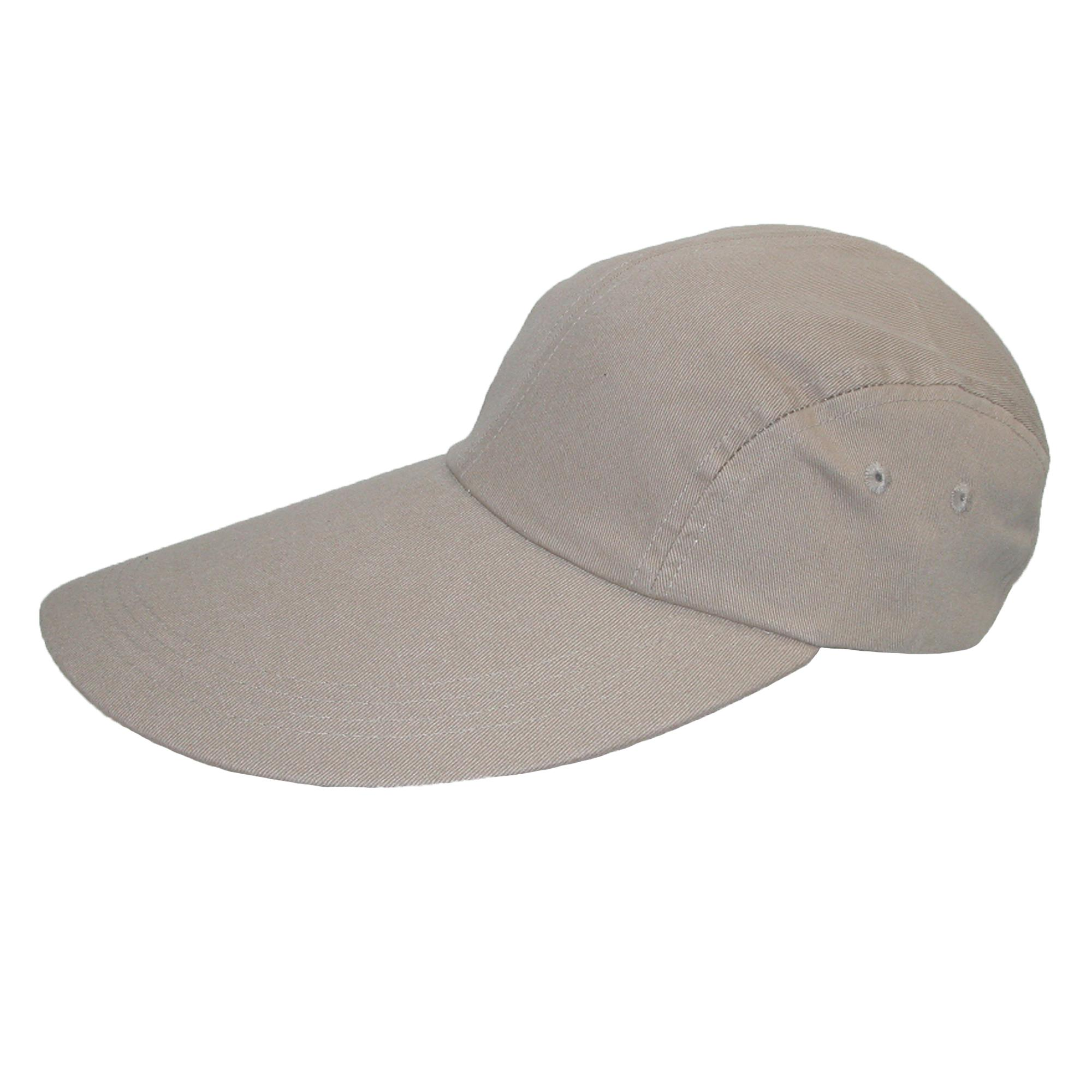 New ctm cotton long 5 inch bill visor baseball cap ebay for Long bill fishing hat
