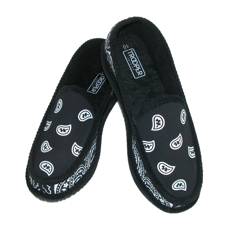 new trooper america men 39 s bandana print slip on slipper. Black Bedroom Furniture Sets. Home Design Ideas