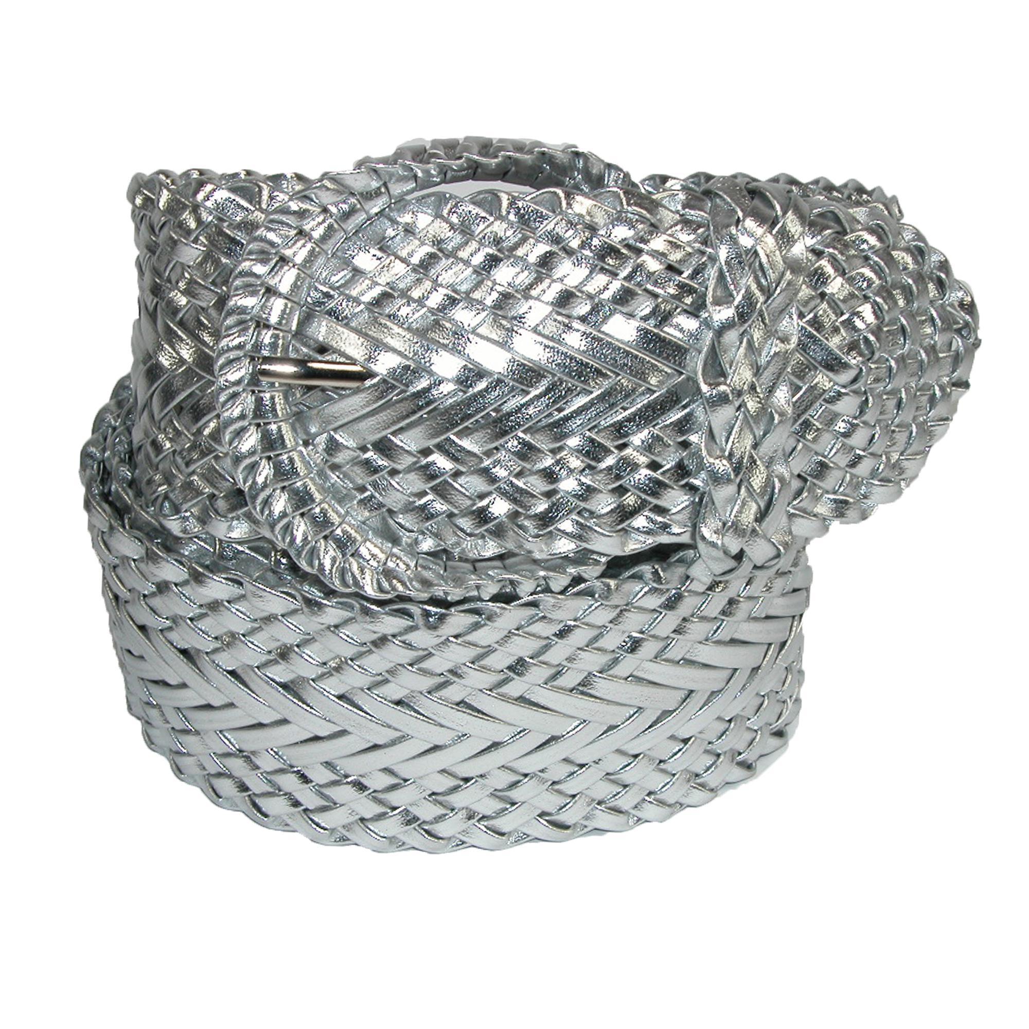 Ctm Womens 2 Inch Wide Adjustable Braided Belt