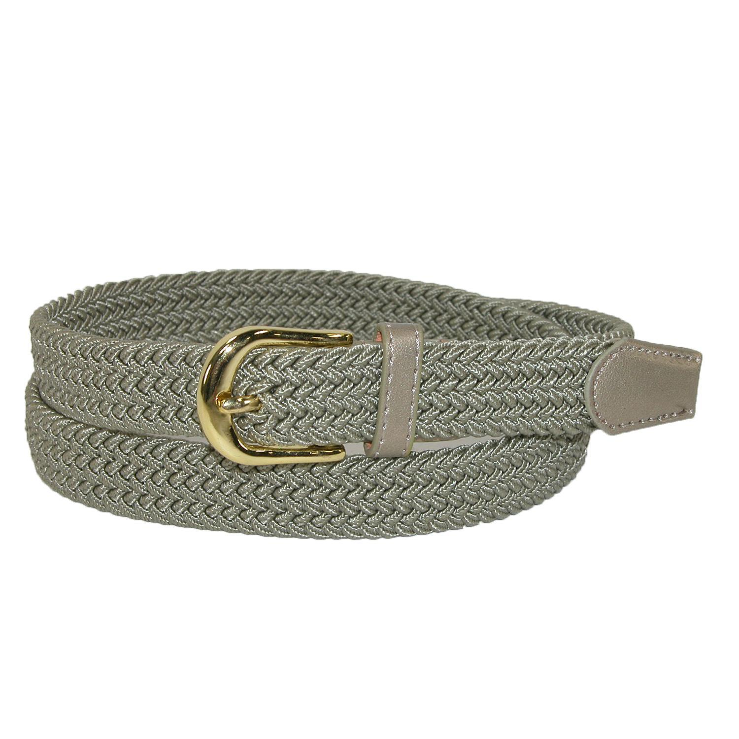 New CTM Women's Elastic Braided Stretch Belt
