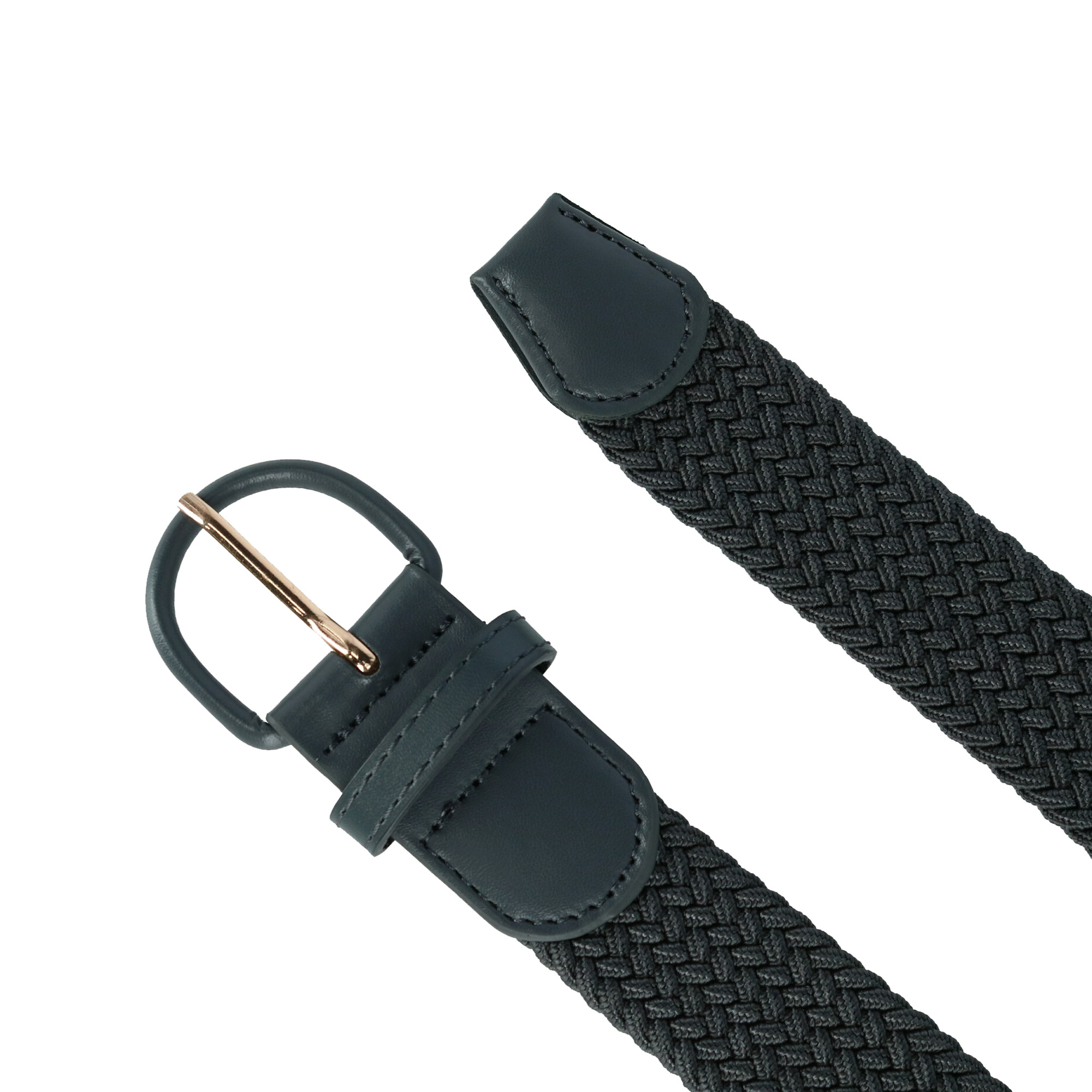 Big /& Tall Available New CTM Men/'s Elastic Braided Belt with Covered Buckle