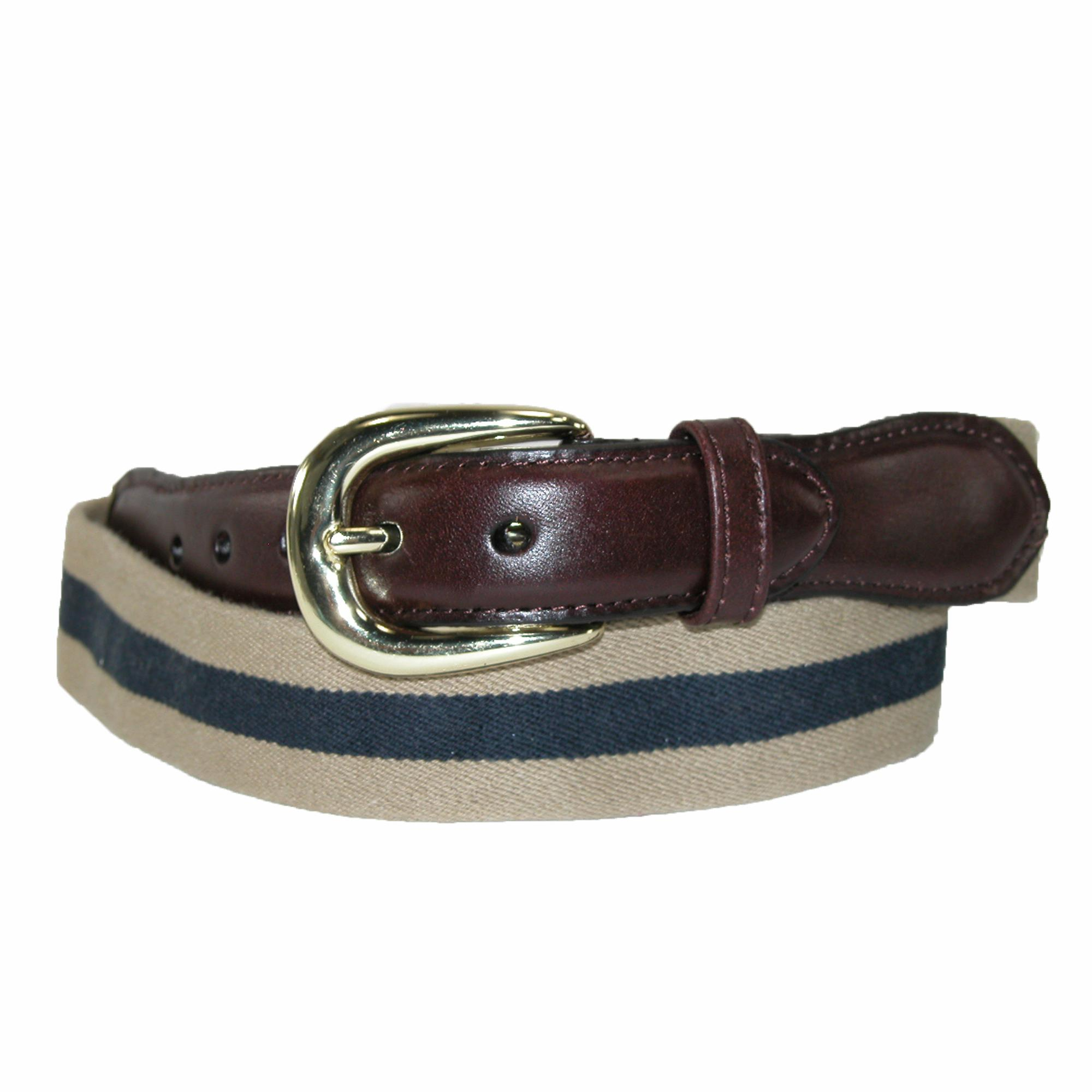 Rogers-whitley Mens Cotton Elastic Two Tone Stretch Belt