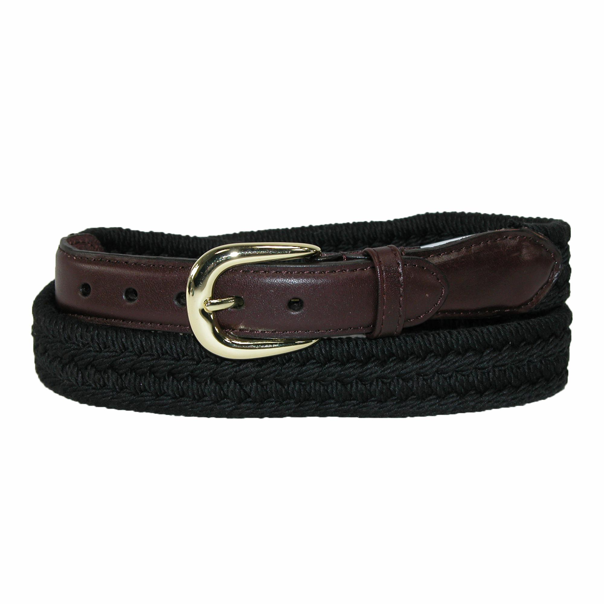 Rogers-whitley Mens Cotton With Leather Trim Braided Belt