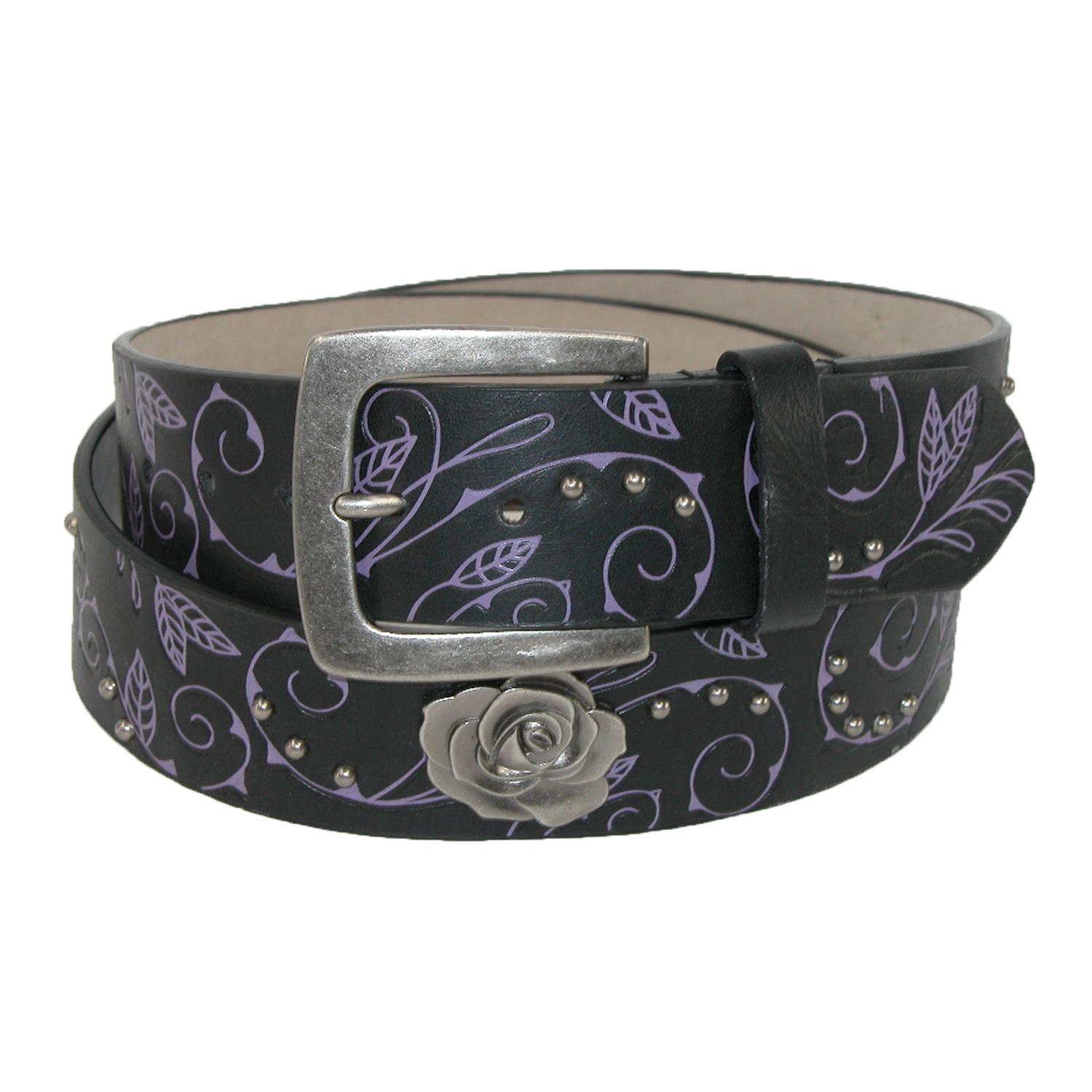 Rogers-whitley Womens Vine Pattern Belt With Rose Choncos