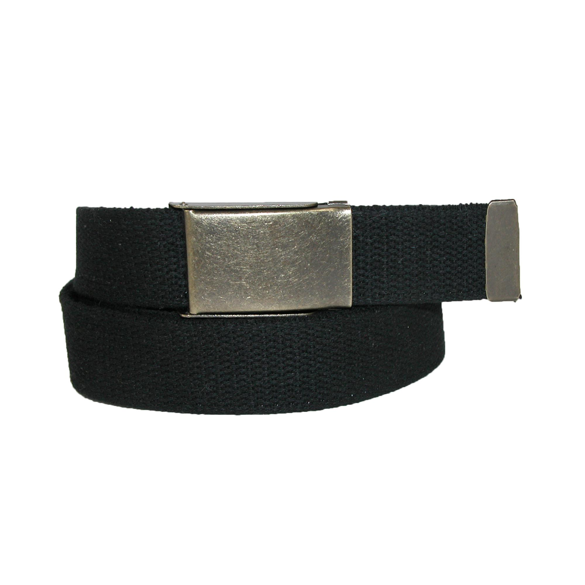 Ctm Mens Big & Tall Fabric Belt With Brass Flip Top Buckle