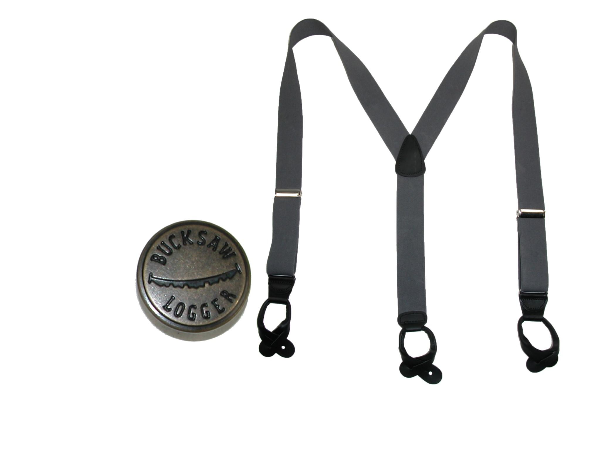 CTM Men's Big & Tall Elastic Button End Suspender with Bachelor Buttons