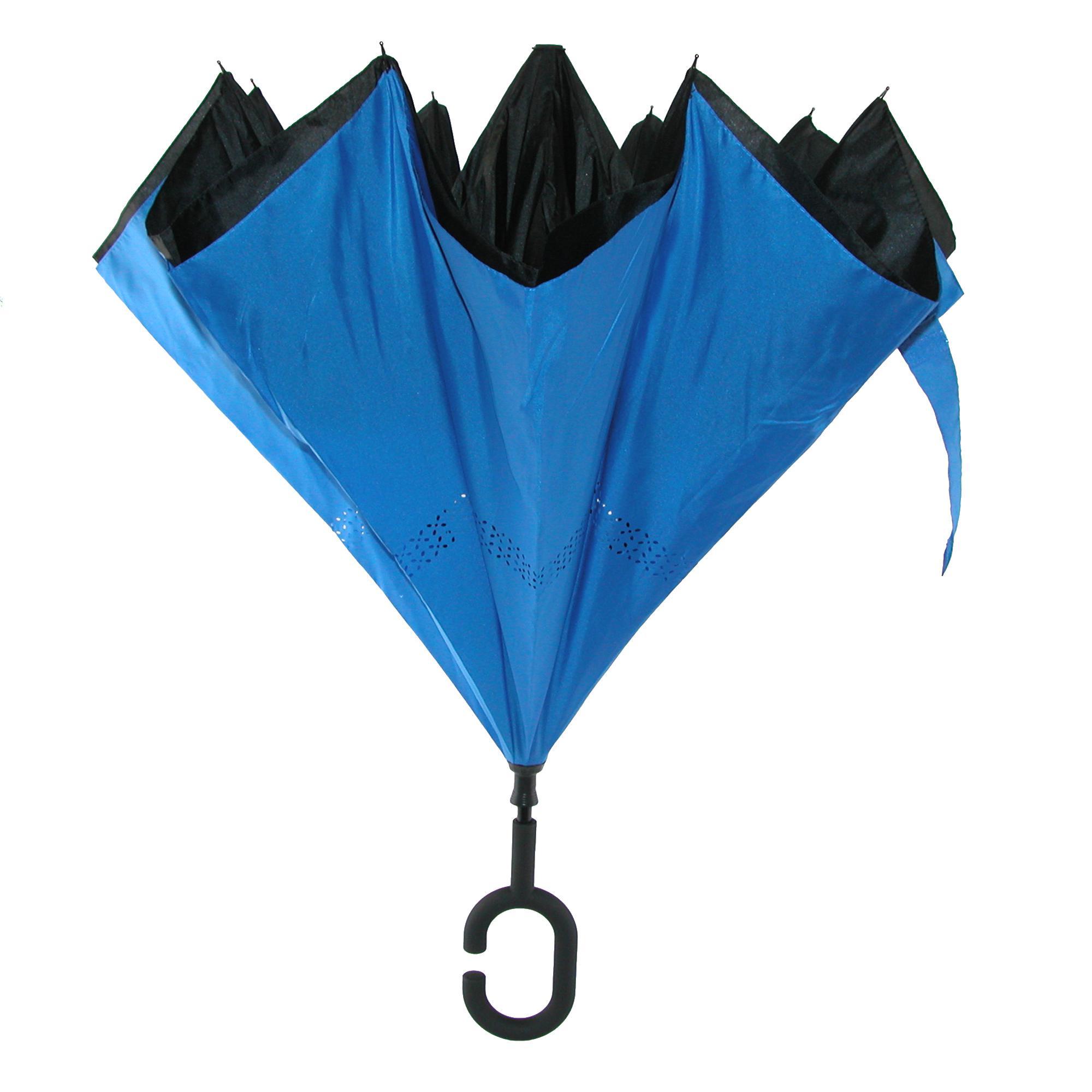 New ShedRain Reverse Closing UnbelievaBrella Stick Umbrella