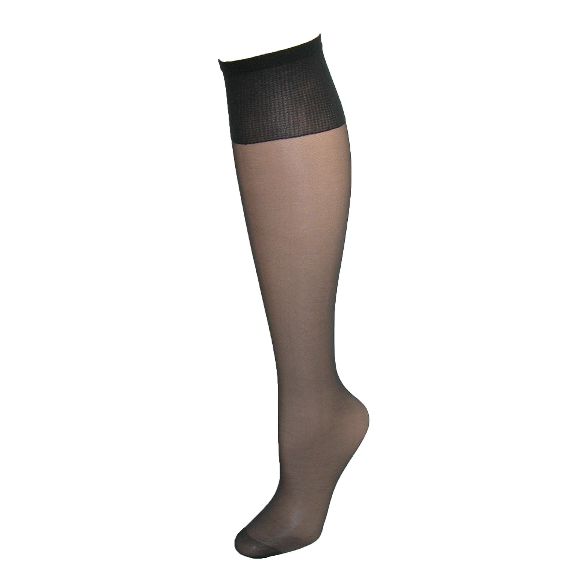 Hanes Womens Plus Size Nylon Sheer Knee High Socks (pack Of 4)
