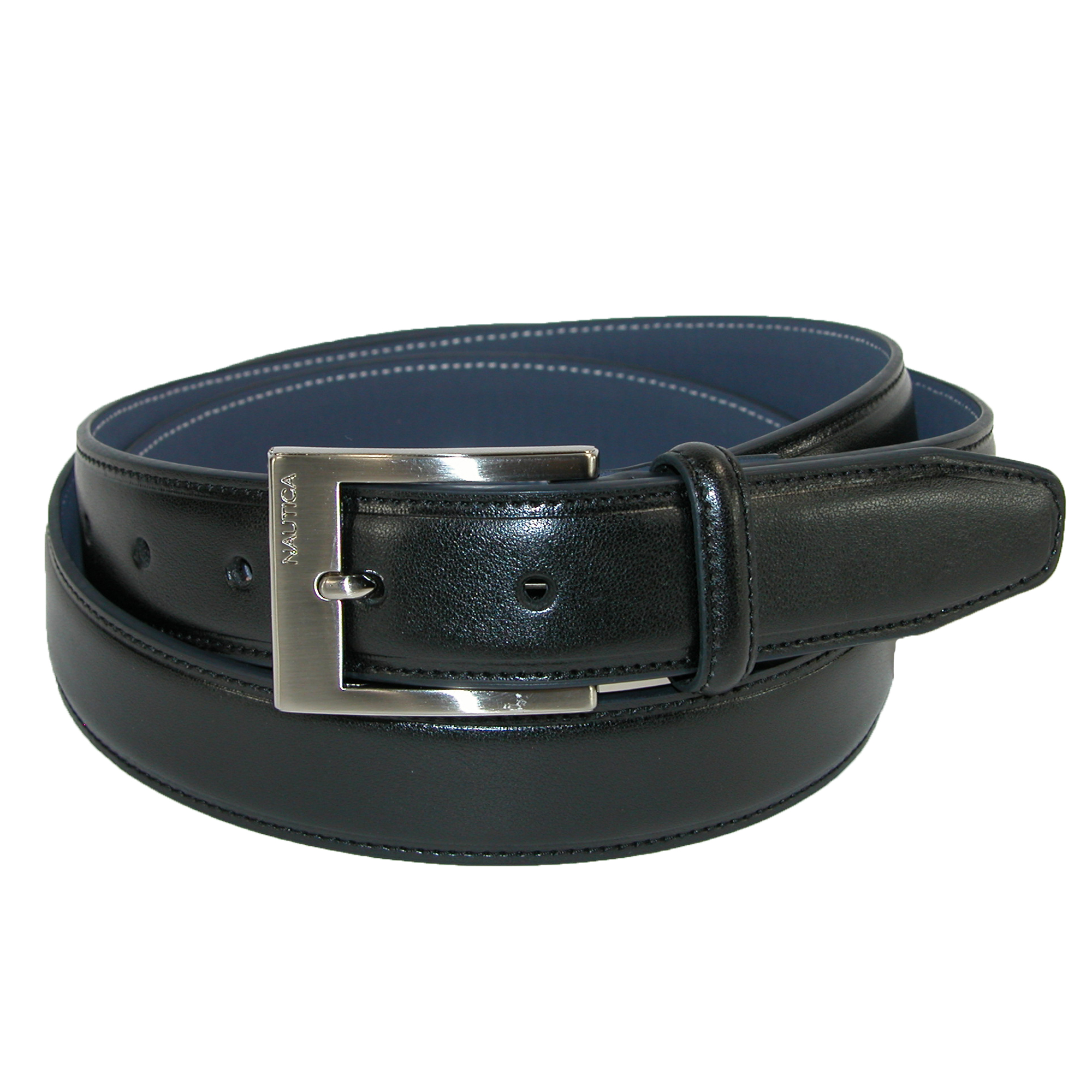 Nautica Men's Feather Edge Belt With Double Stitch