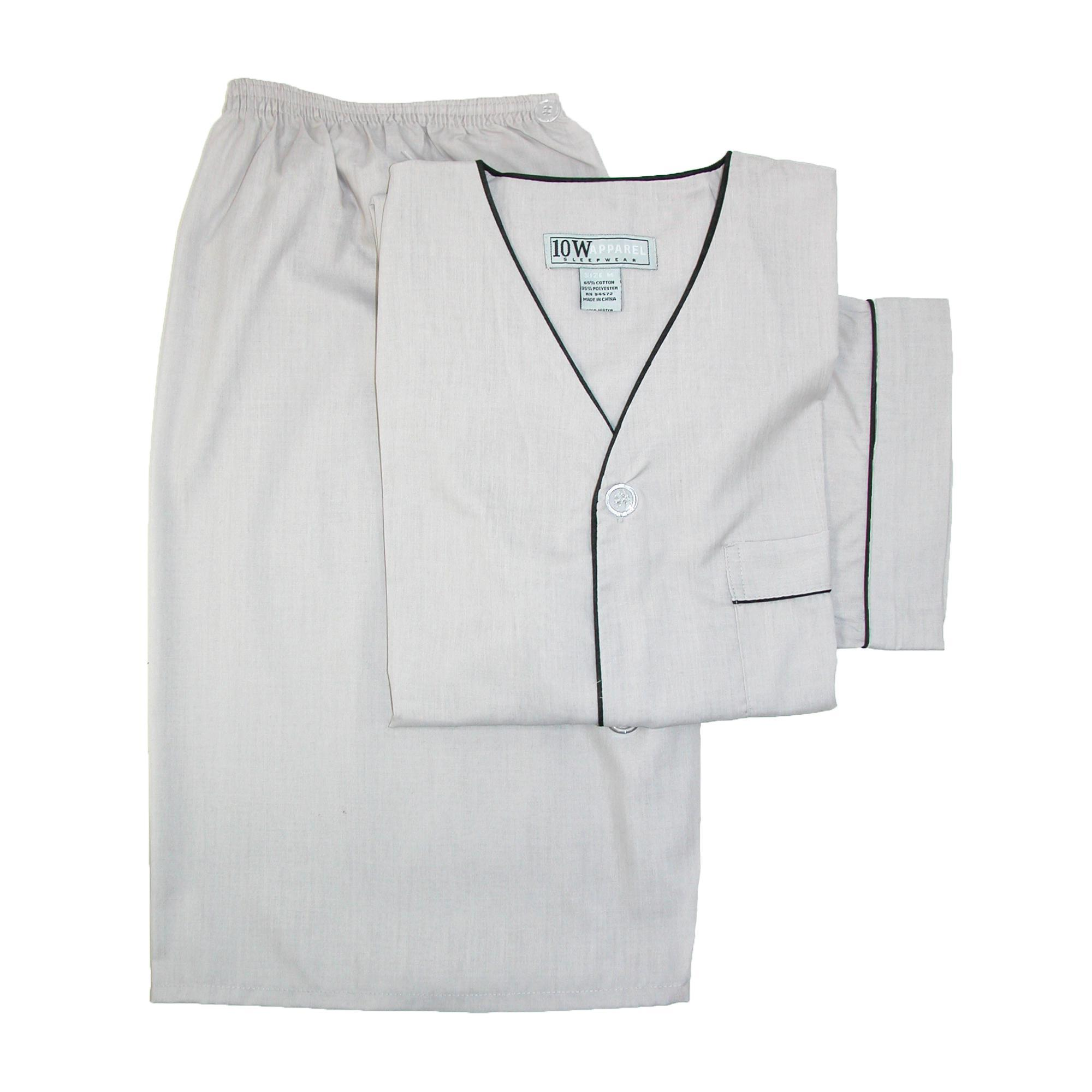 New Ten West Apparel Men's Short Sleeve Short Leg Pajama Set