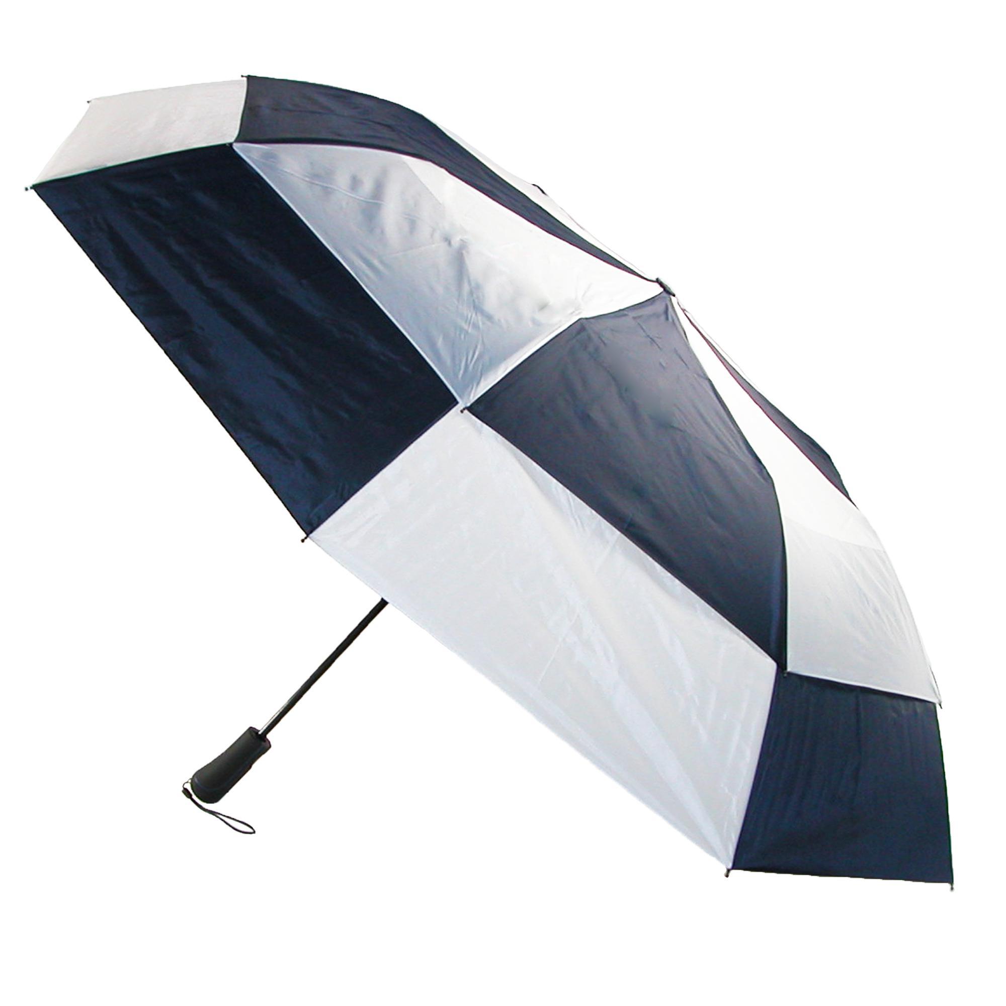 New totes men 39 s auto open vented split panel canopy for Canopy umbrella