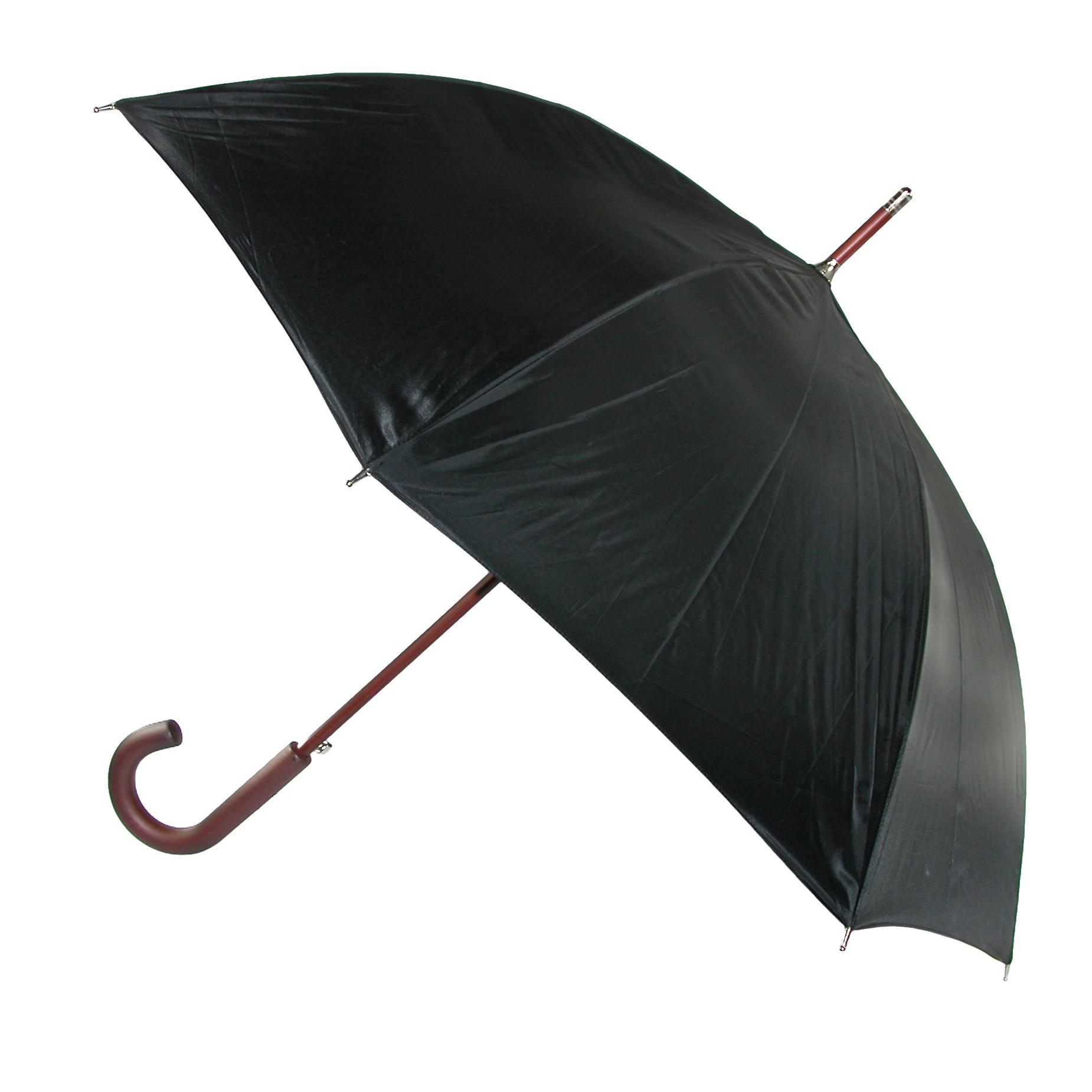 Totes Wooden Hook Handle 38 Inch Stick Umbrella