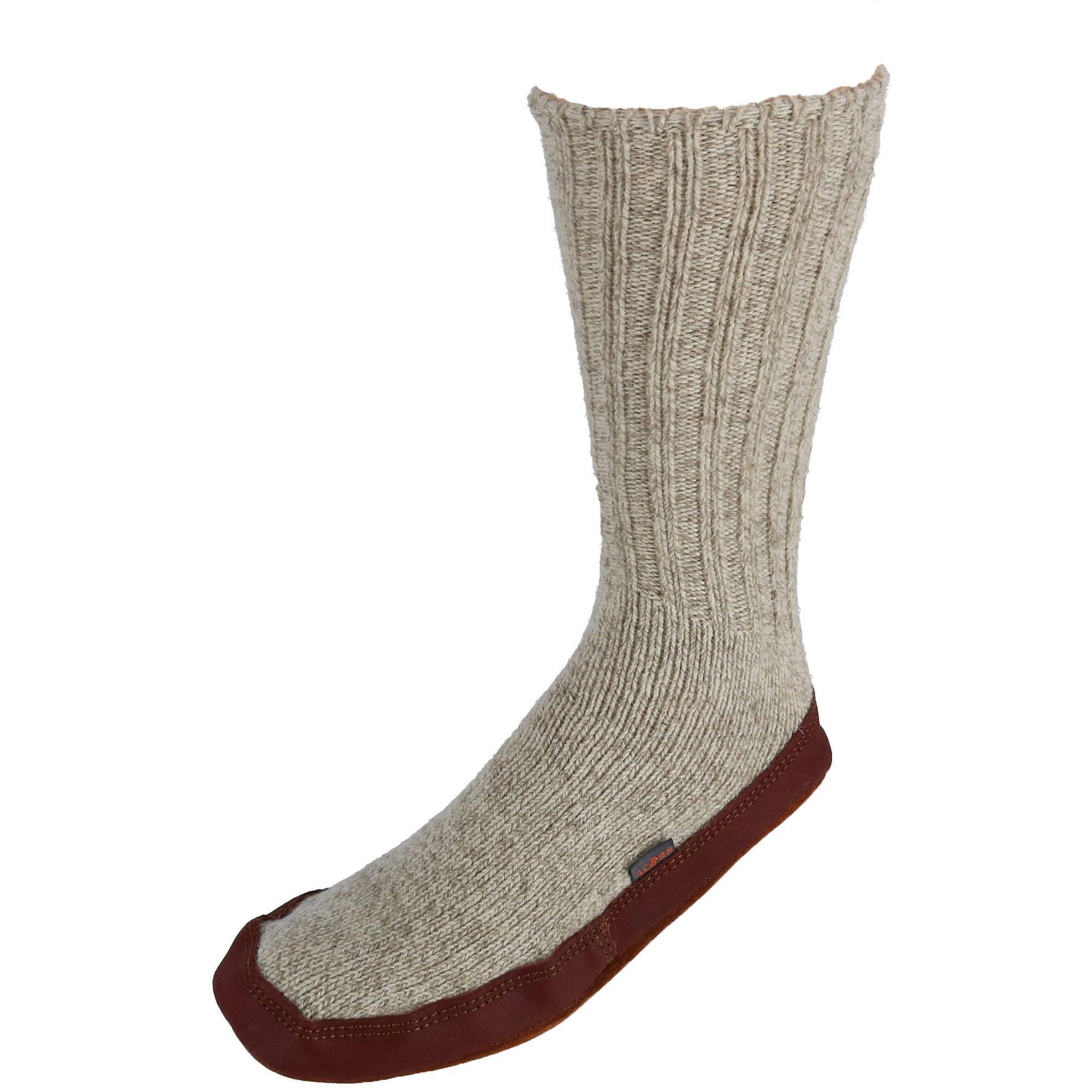Acorn Mens Wool Sock Slippers