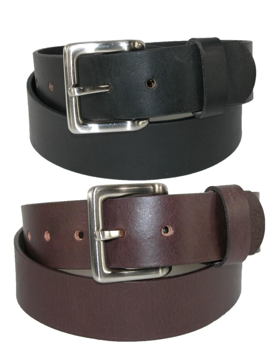 Toneka Mens Leather Bridle Belt With Removable Buckle (pack Of 2)