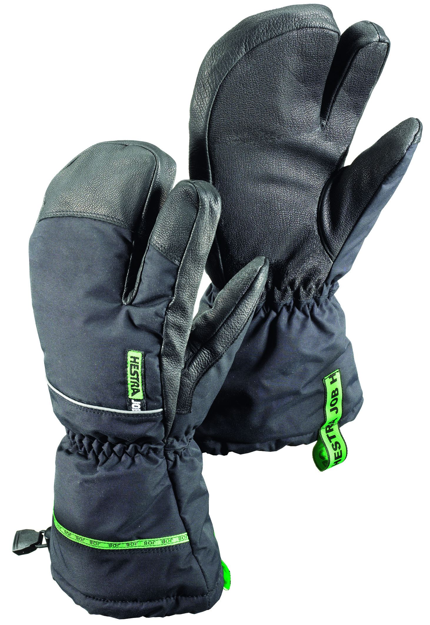 Leather work gloves ebay - Gore Tex Pro 3 Finger Insulated Army Leather Work Gloves Black Green