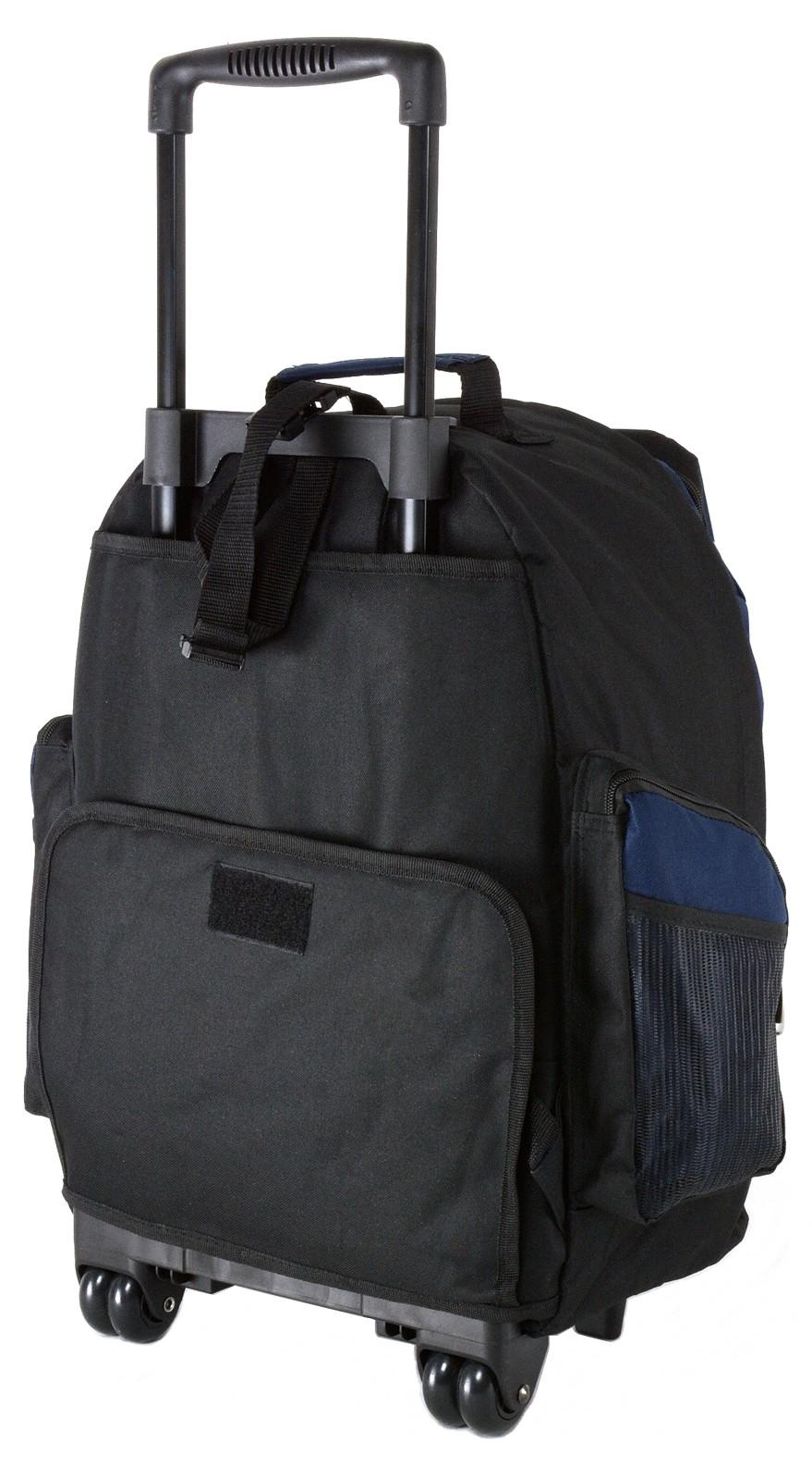 18 wheeled backpack roomy rolling book bag w handle. Black Bedroom Furniture Sets. Home Design Ideas