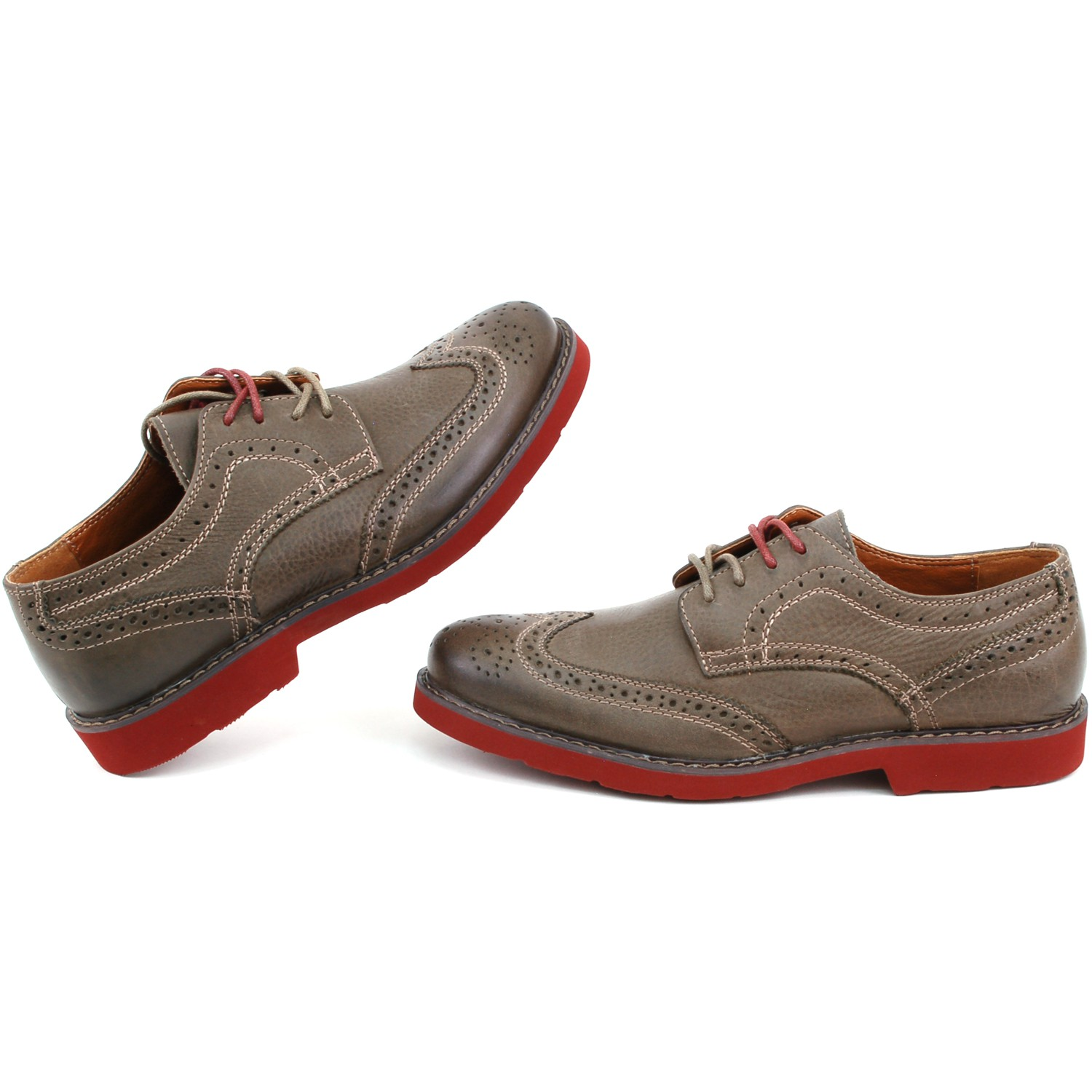 mens wingtip oxfords real leather casual dress