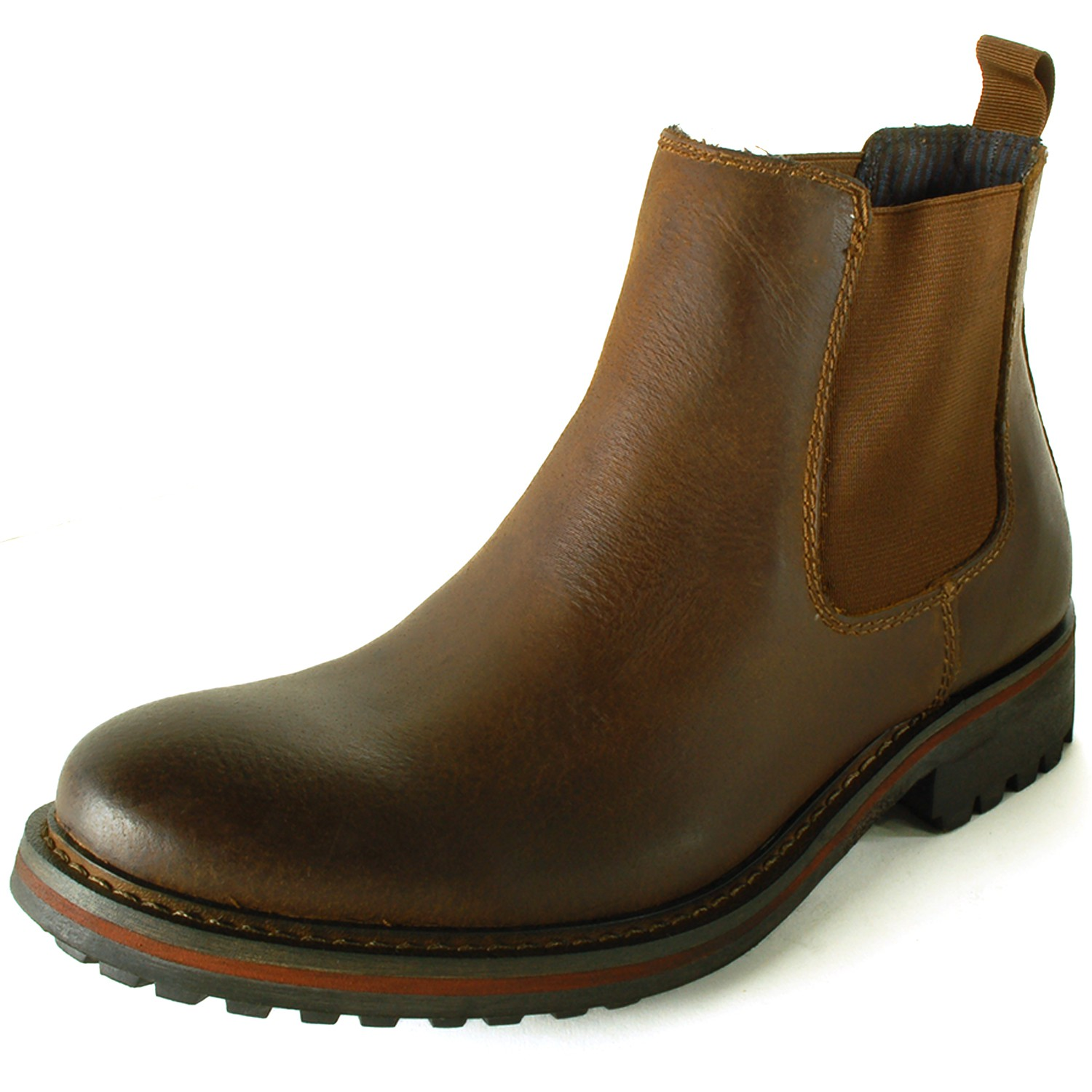 gbx mens chelsea boot leather ankle high pull
