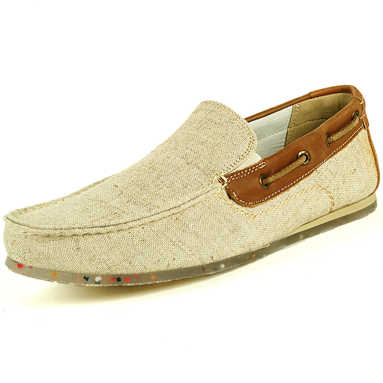 gbx mens boat shoes slip on loafers moc toe