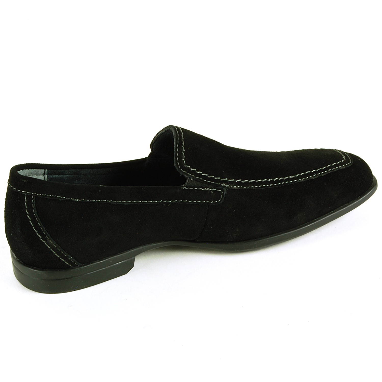 mens suede loafers slip on dress shoes moc toe comfort
