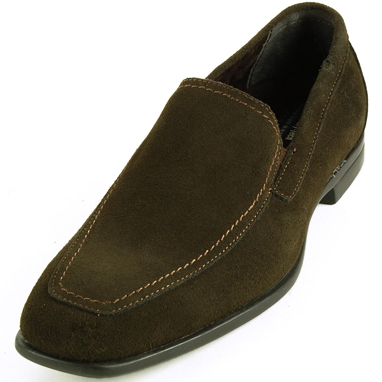 Mens Suede Loafers Slip On Dress Shoes Moc Toe Comfort Moccasins Giorgio Brutini | EBay