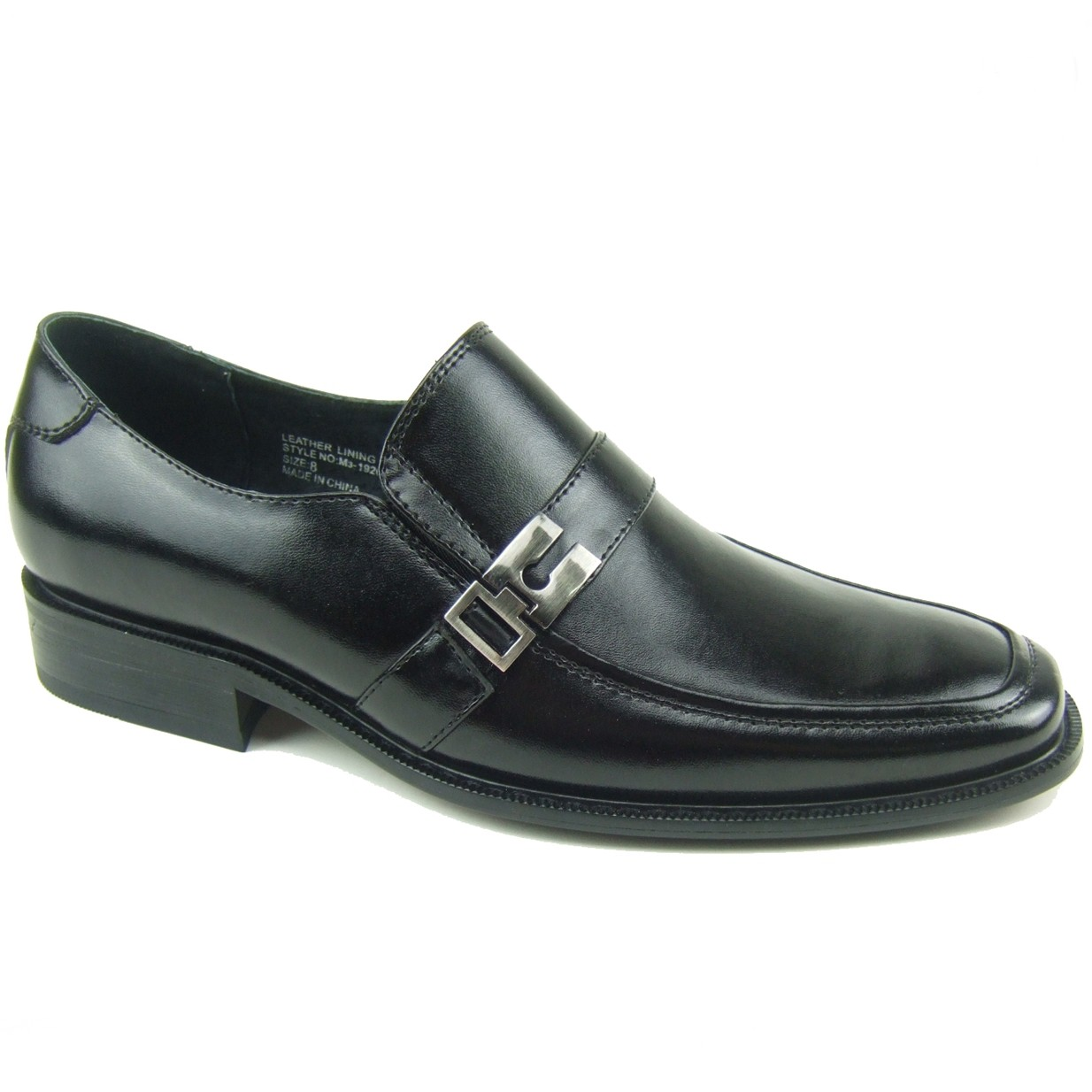 mens slip on loafers buckle suede lined moc toe