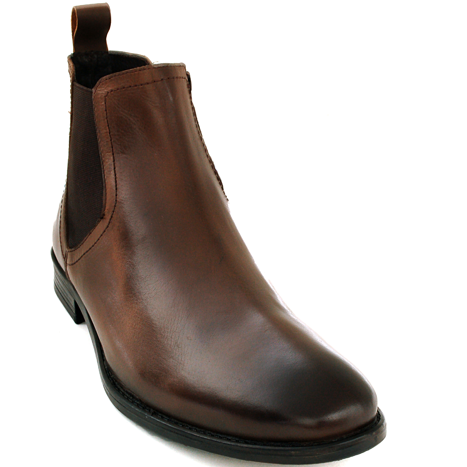 mens chelsea boots slip on ankle loafers leather comfort