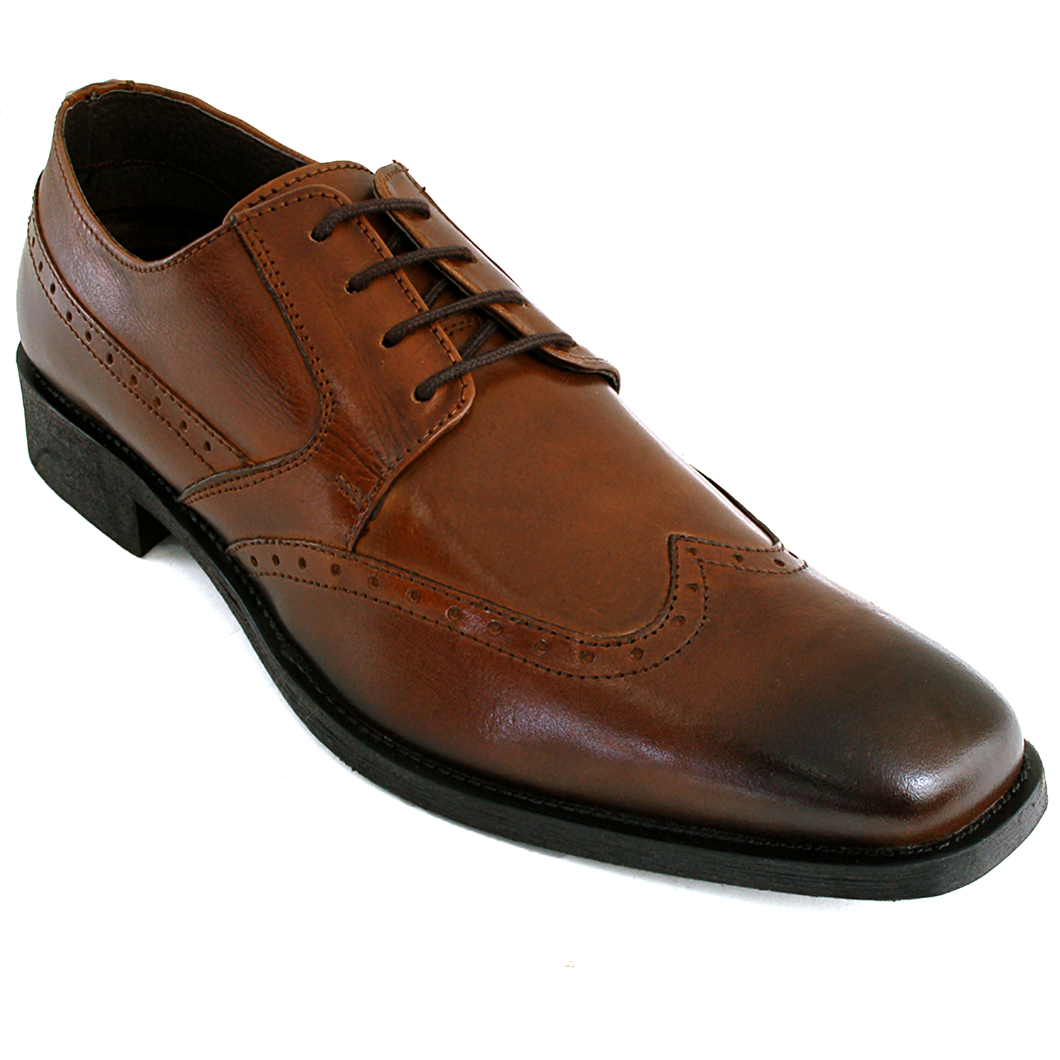 mens wing tip oxfords lace up leather comfort brogue